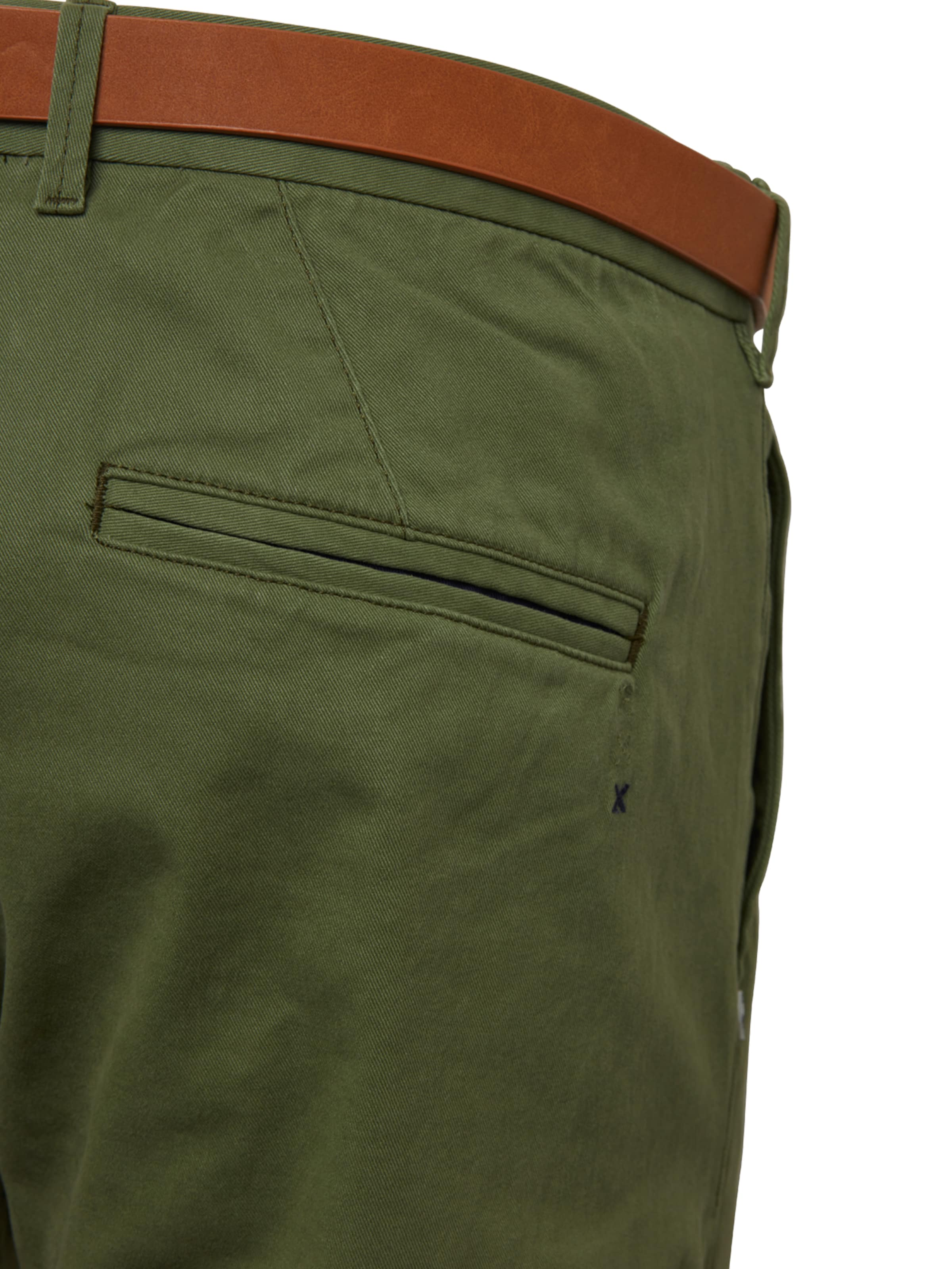 Soda Rouge Chino Twill 'stuart Belt' Pantalon In Peached Scotchamp; En With 8nNmw0