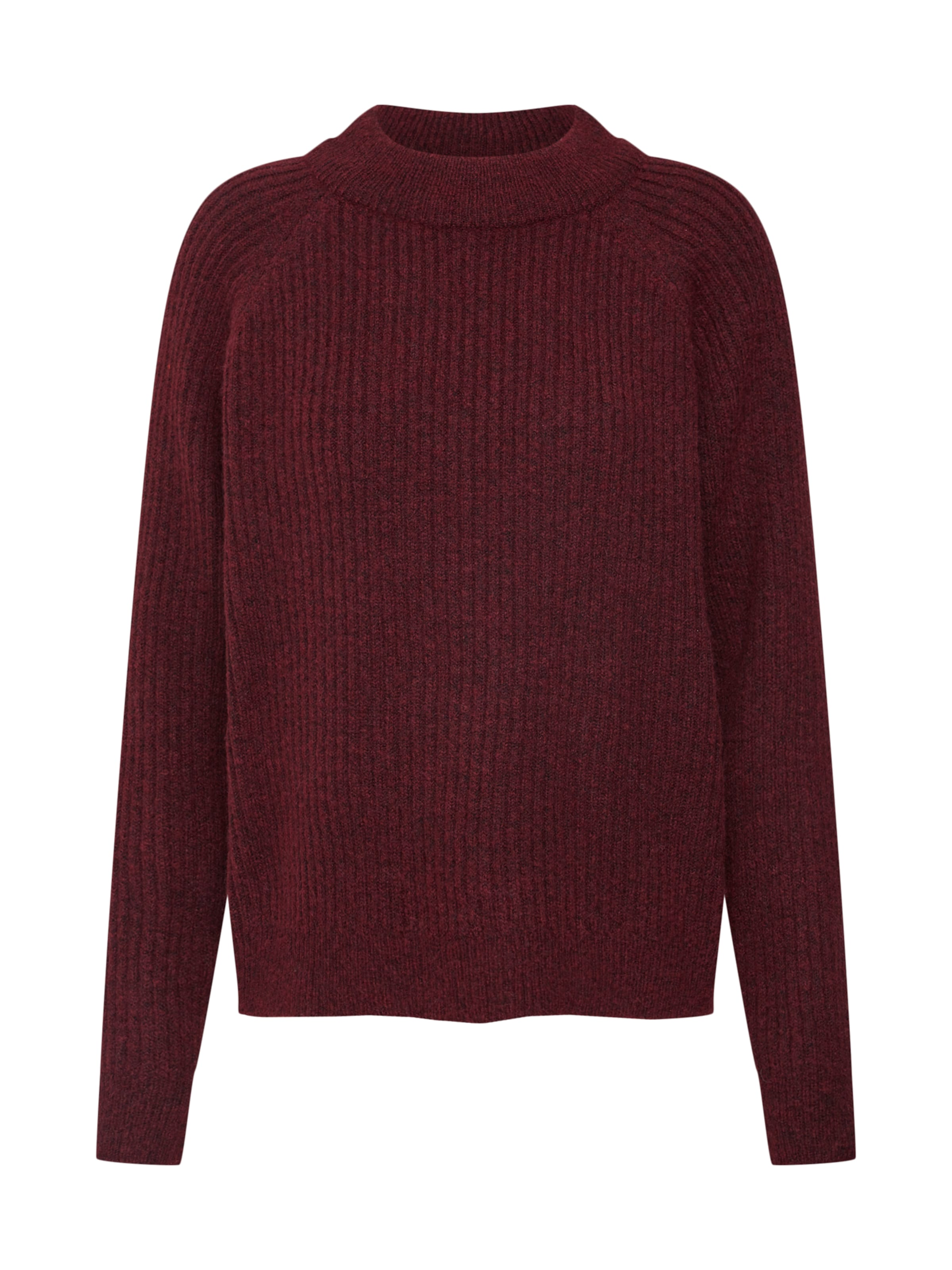 Bordeaux Saint Pull En 'rib over Knit Tropez Sweater' zpUqSVGM