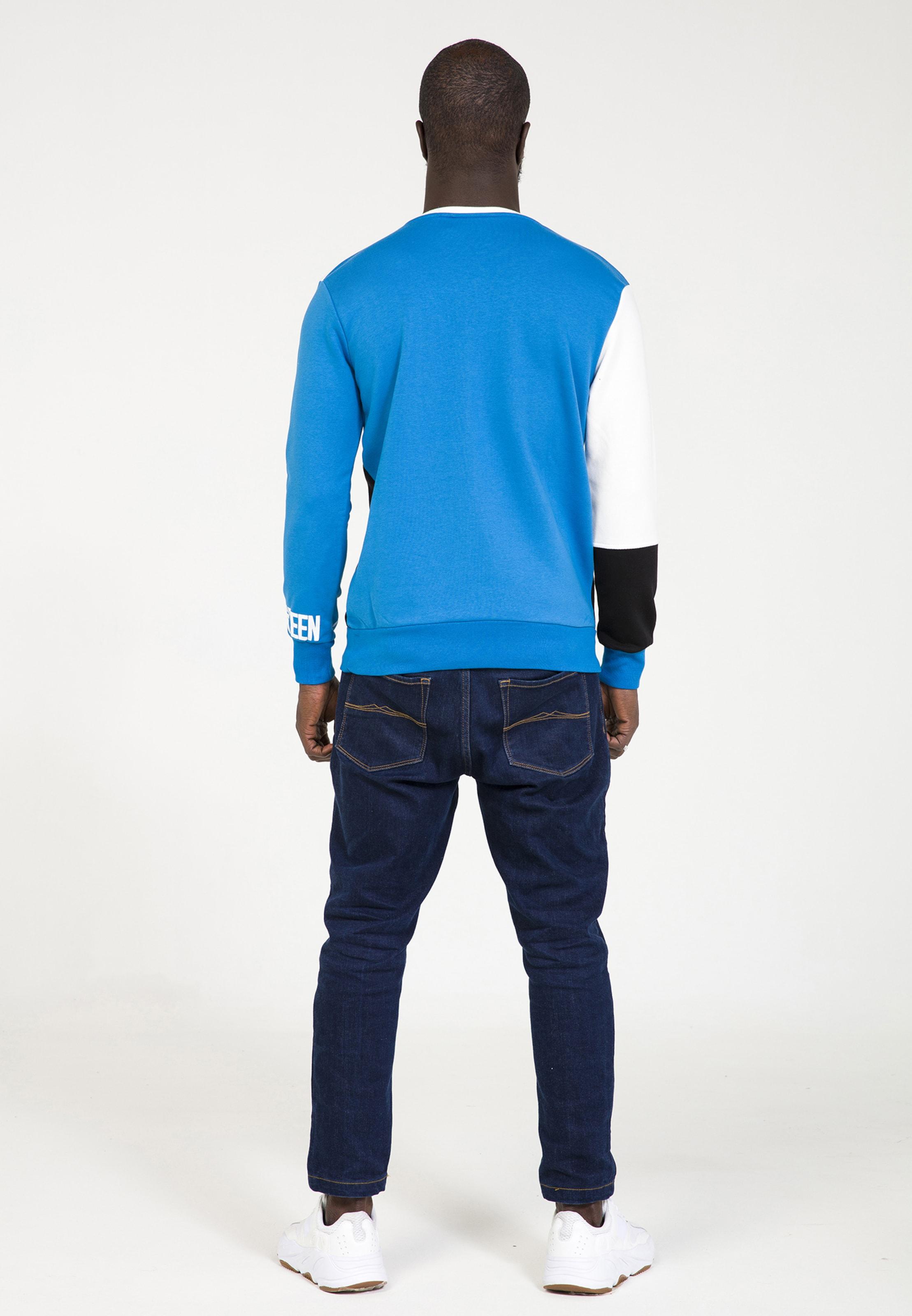 Eighteen BleuNoir Plus Blanc Cassé shirt En Sweat shQCxtrd