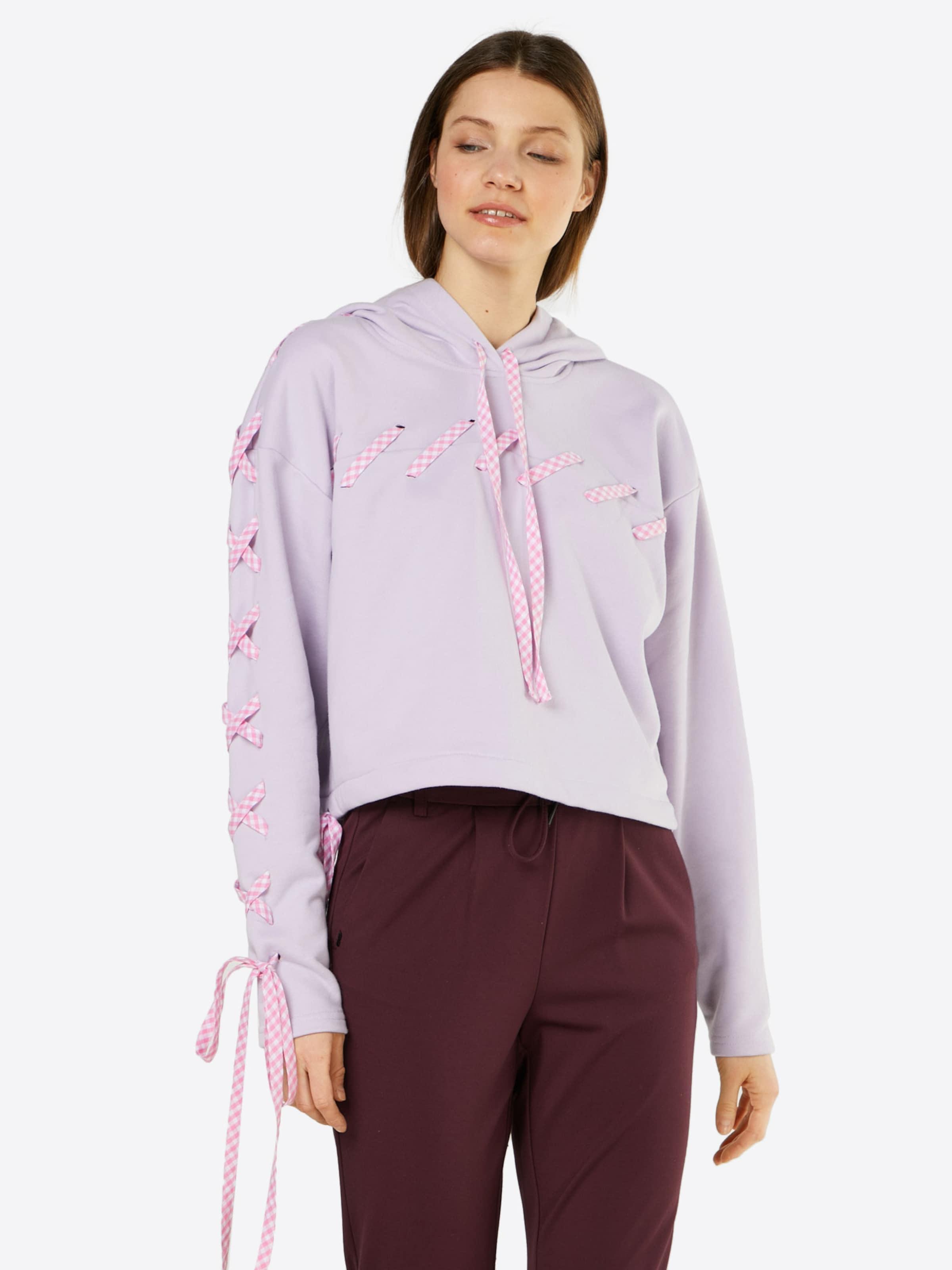 Lost Sweat En 'lacing' Lilas Ink shirt mwnNv80