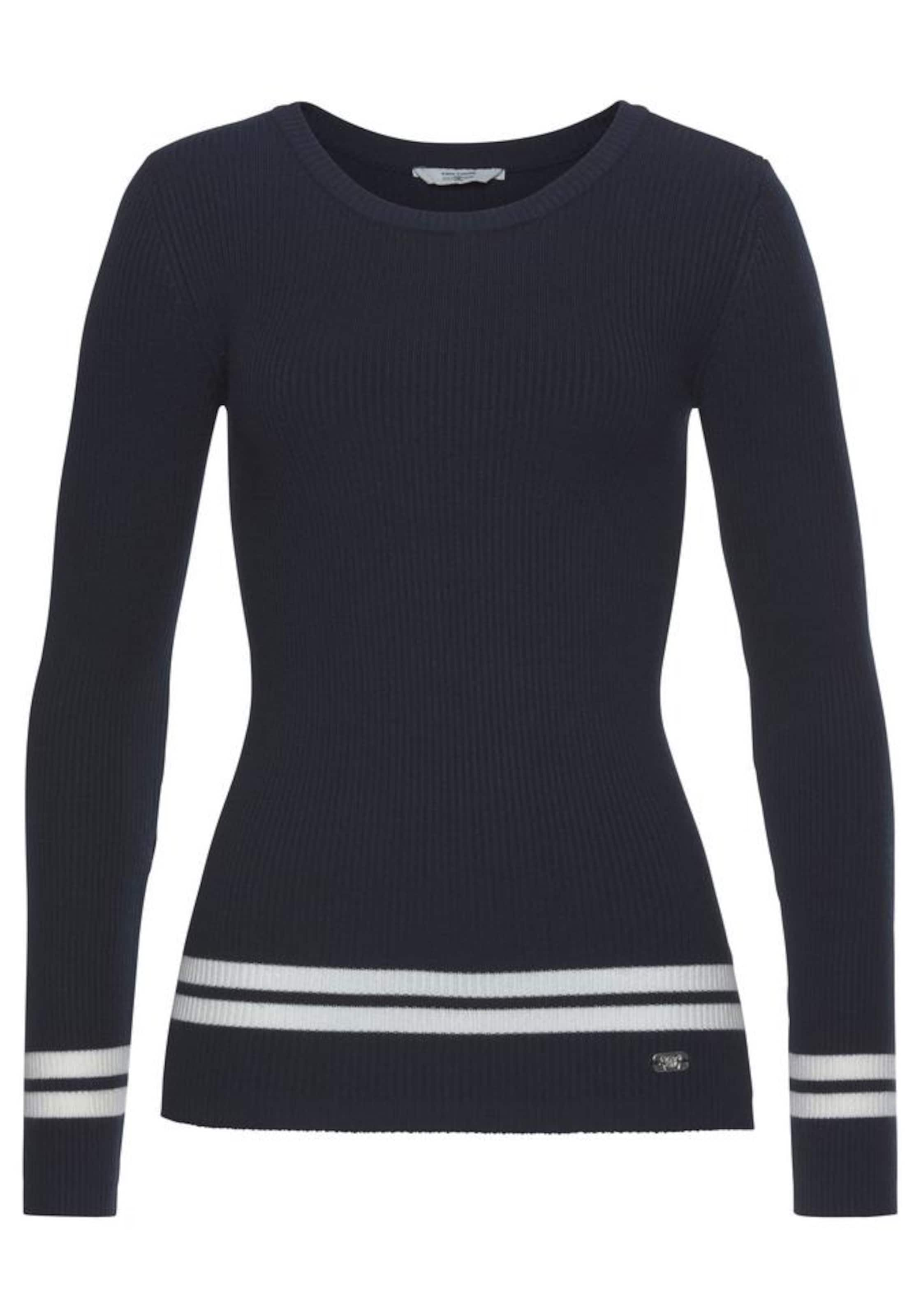 Tom Tailor Team Polo Pullover NavyOffwhite In LA4j5R
