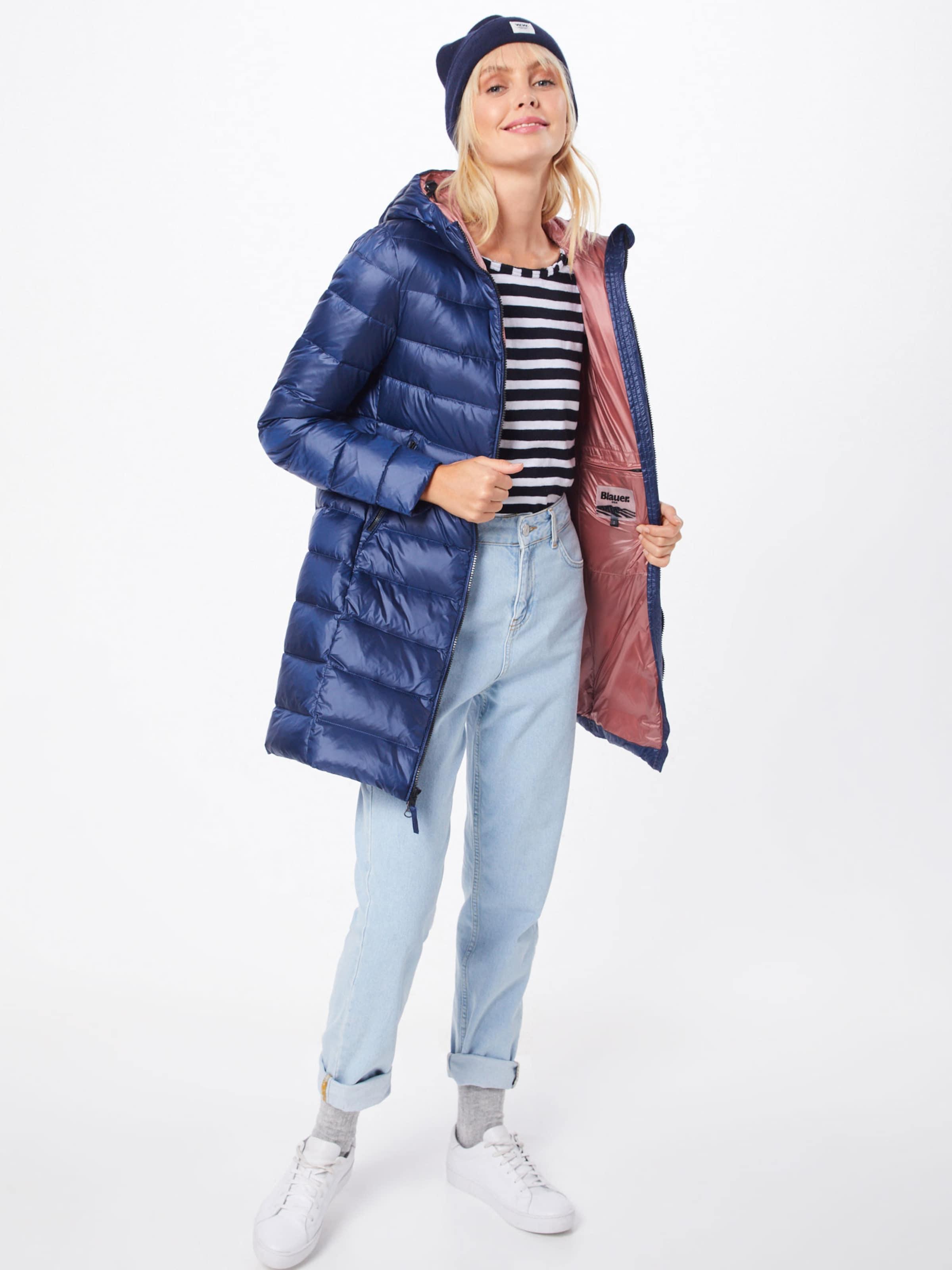 Manteau D'hiver En Imbottito Piuma' Noir 'impermeabile Blauer Lunghi usa f6Y7gIvby