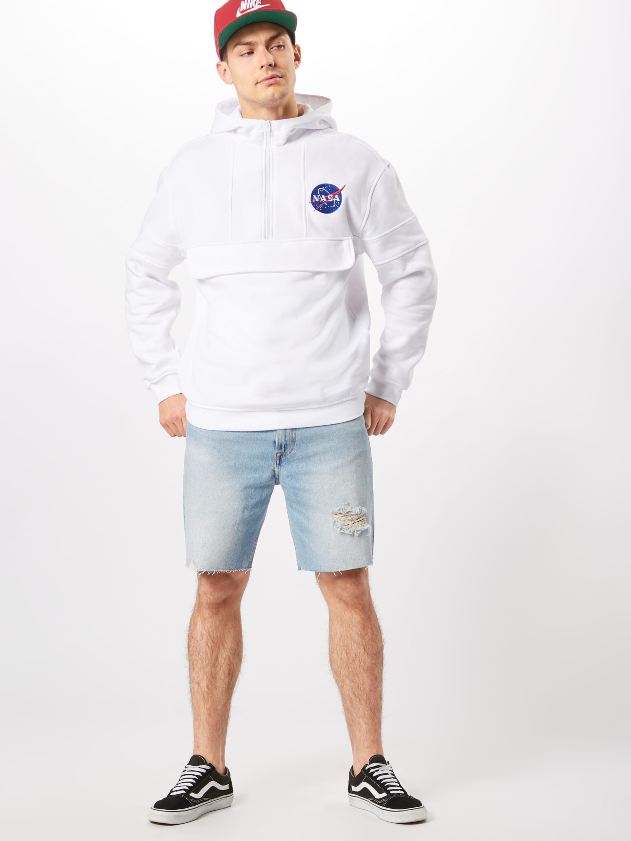 Over Chest En 'nasa Blanc Tee Veste Survêtement Hoody' Embroidery Pull De Mister vNOywn0m8