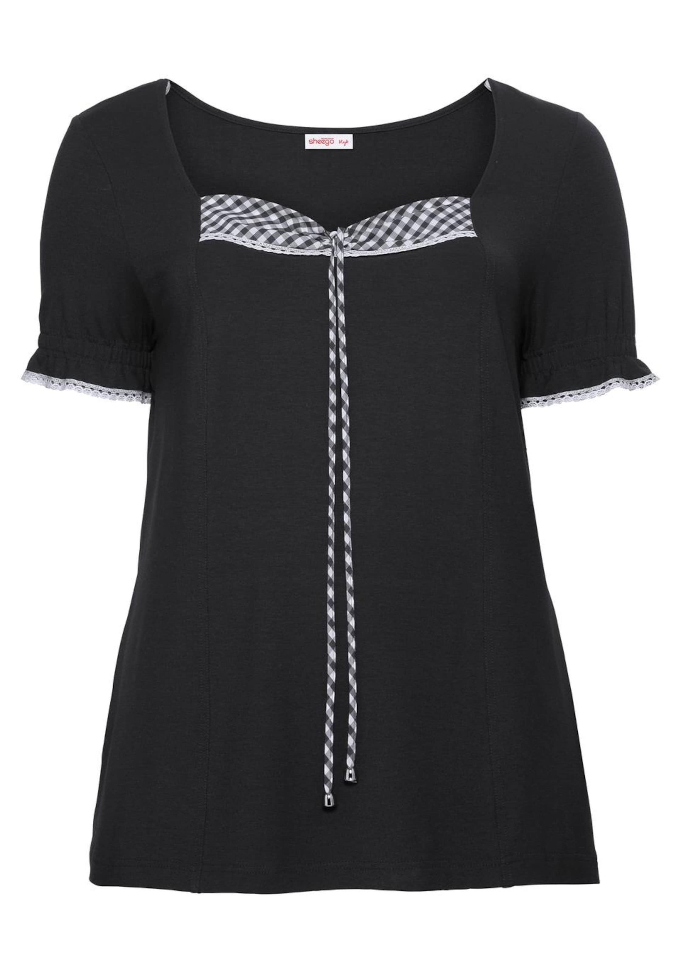 In Sheego Style SchwarzWeiß shirt T 54ALcqRj3
