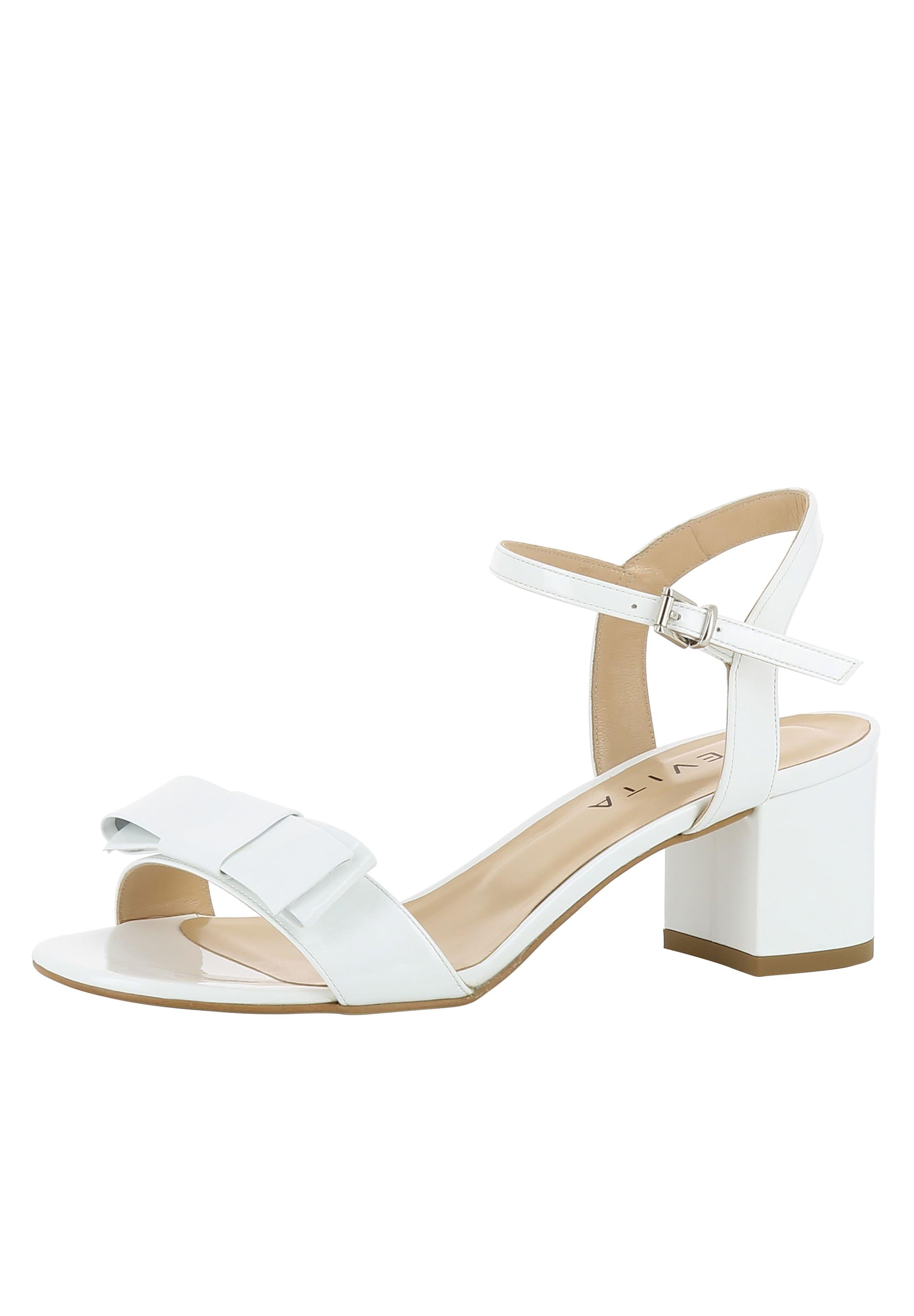 Evita À 'mariella' Sandales Blanc En Lanières jULSMGqzVp