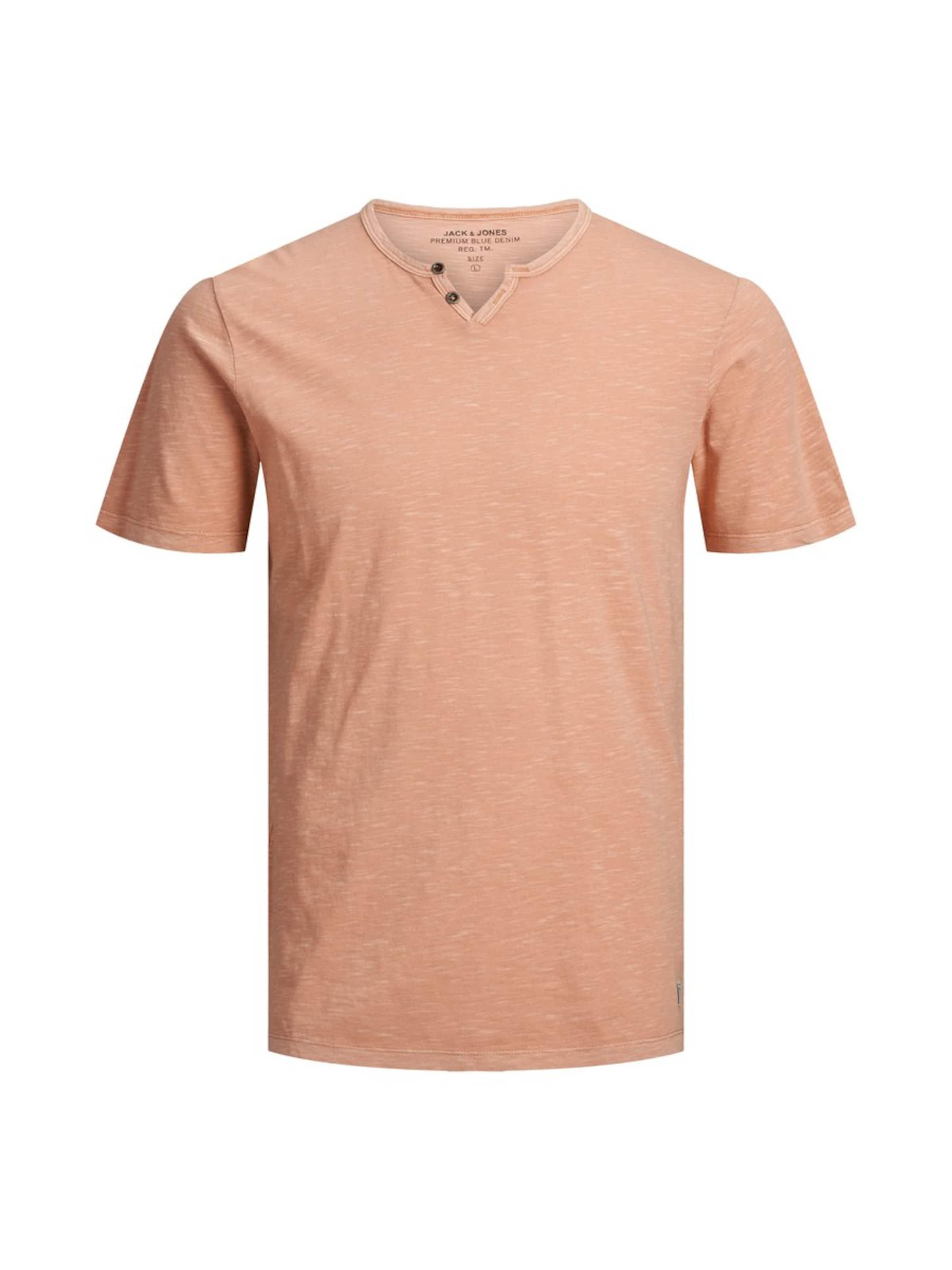 Ss Jones Neck' T 'jprbenjamin Split Tee En Jackamp; shirt Rouge Nv0wy8nmO