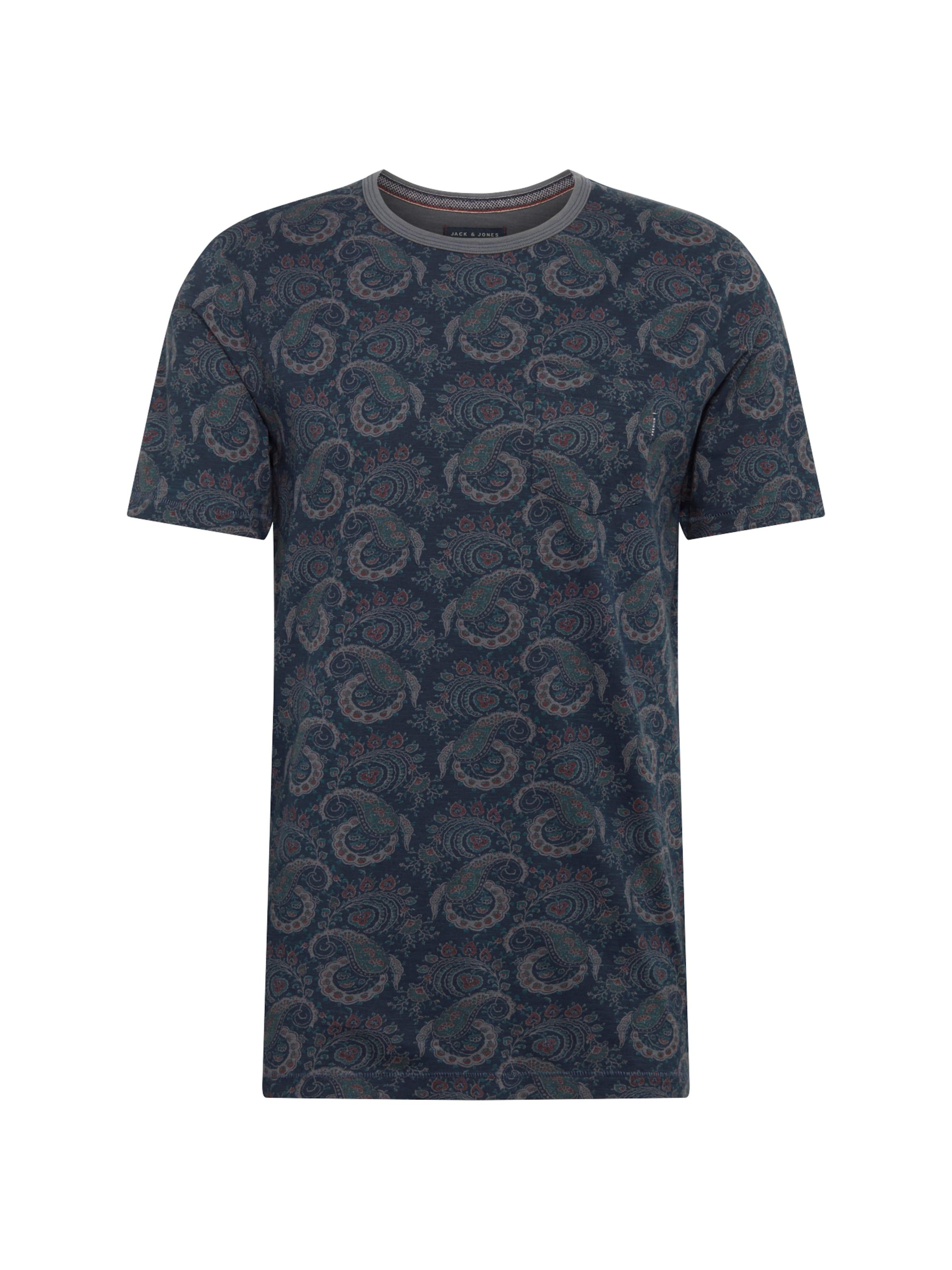 Bleu En shirt Couleurs Jones FoncéMélange T Jackamp; De lKJ1FTc