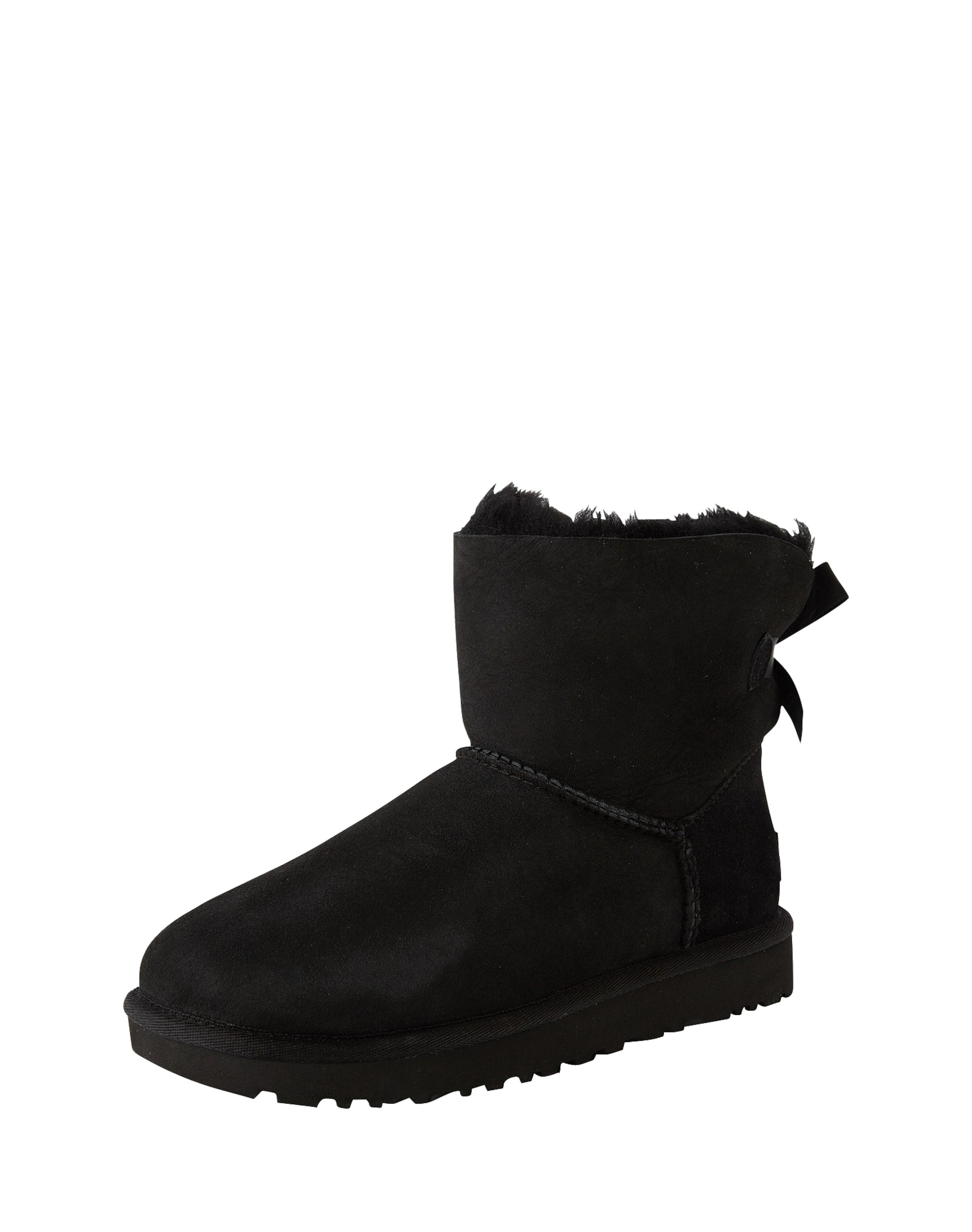 Ugg fütterung Bailey Bow Boots In Mit Schwarz 'mini Fell Ii' DH9EW2I