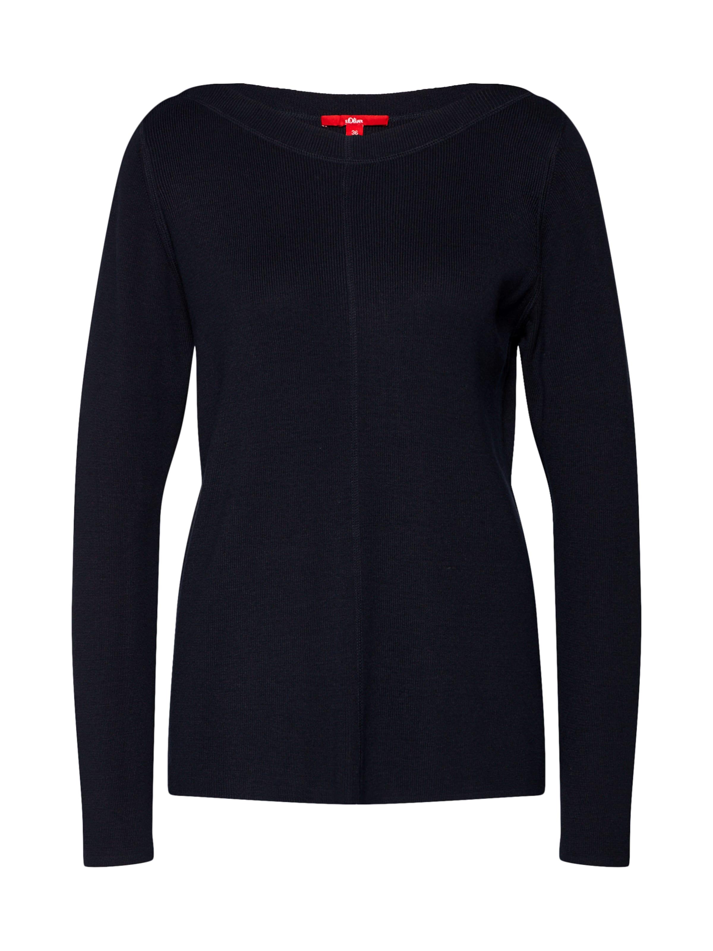 In Red oliver 'pullover Pullover S Langarm' Label Nachtblau 4LjAqRSc35