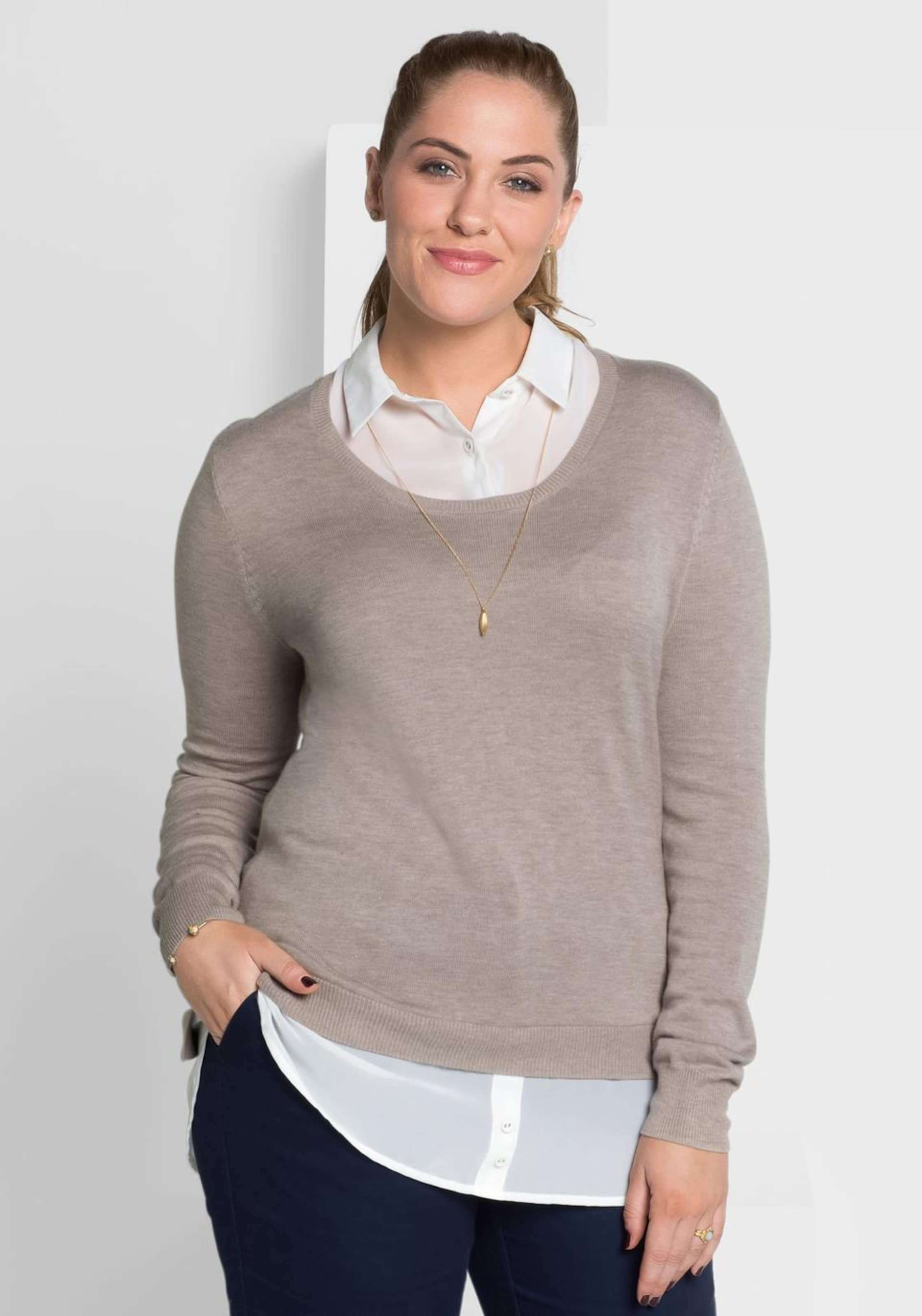 Sheego Class Pullover In Hellgrau Class Sheego Pullover xsrCQdth