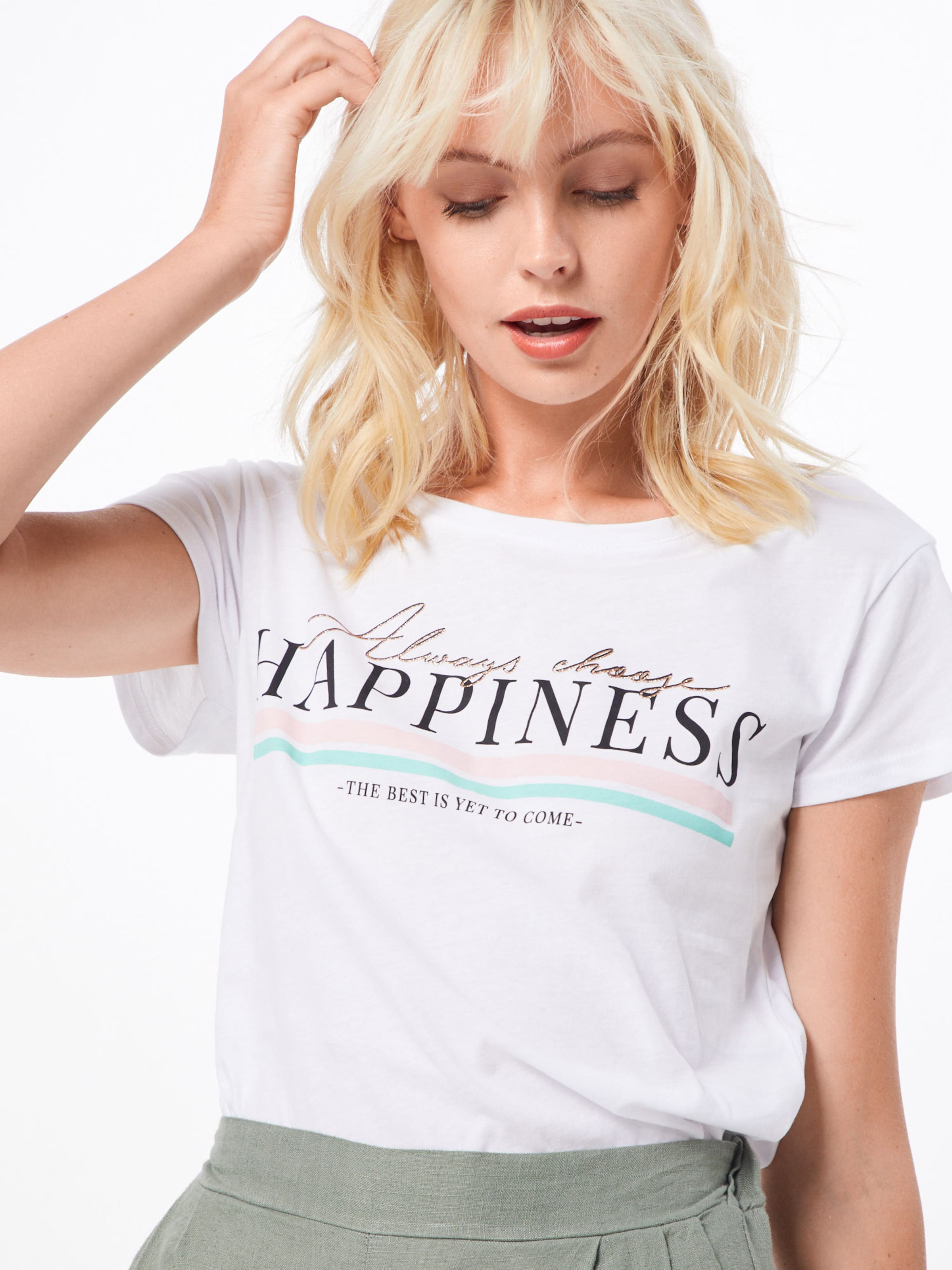 Hailys En 'henna' T Blanc shirt SqzMpUV