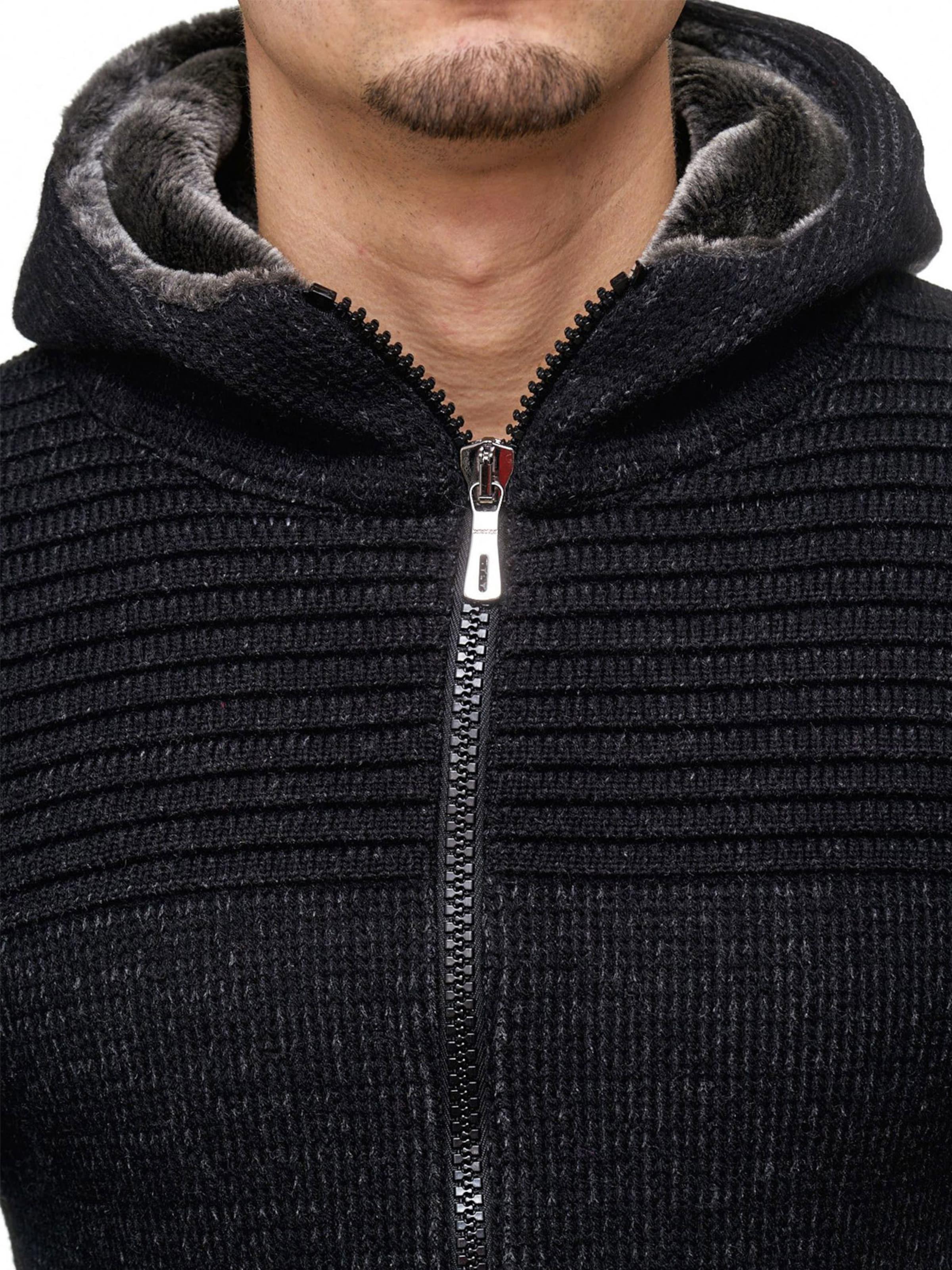 Indicode En Vestes 'curitiba' Jeans Graphite Maille cRL3A54qj