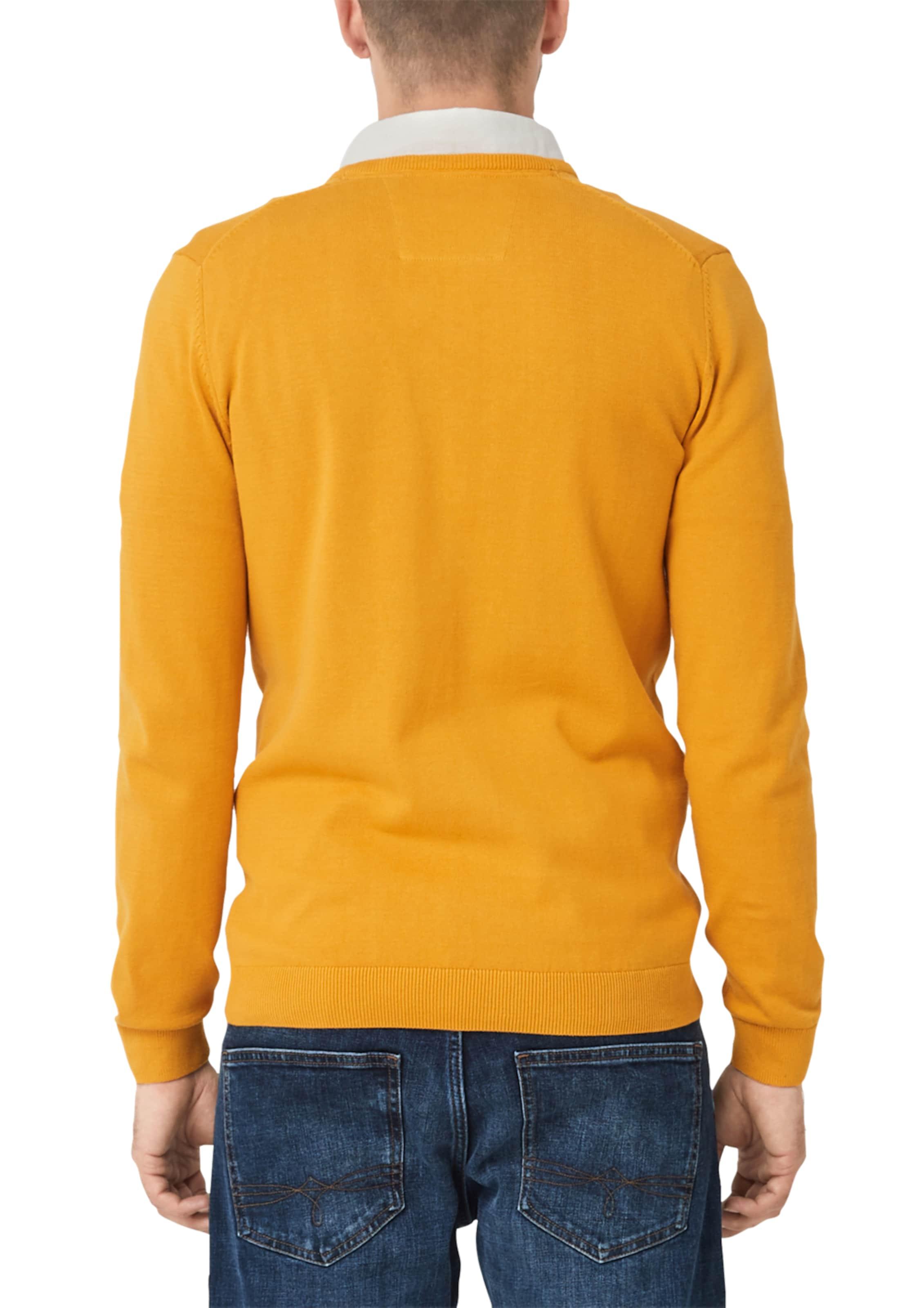 Mit oliver In S Senf Red Pullover Label ausschnitt V m8v0nONw