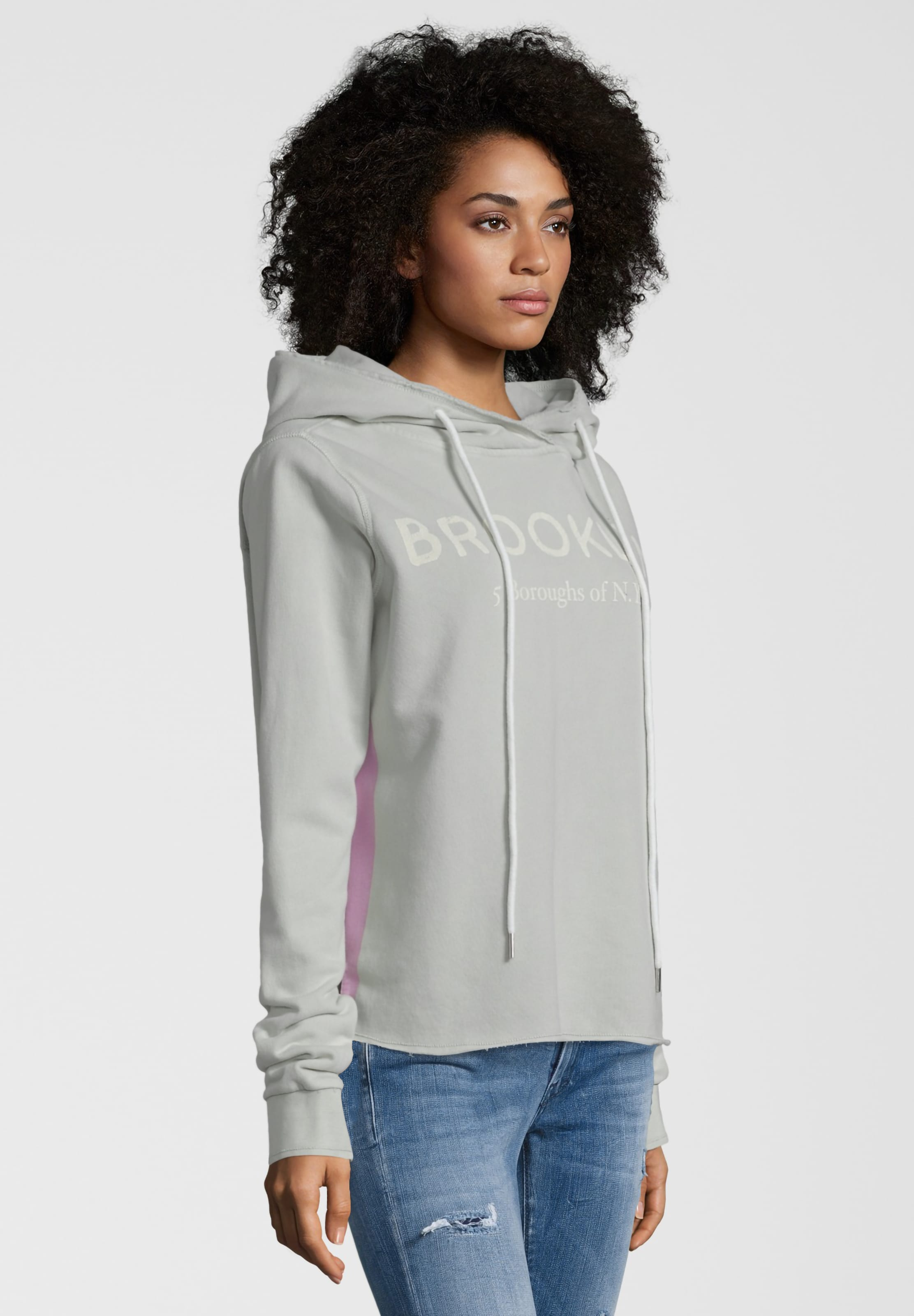 Kapuzenpullover Brooklyn' GrauHellpink In 'vintage Better Rich uPOkTZiX