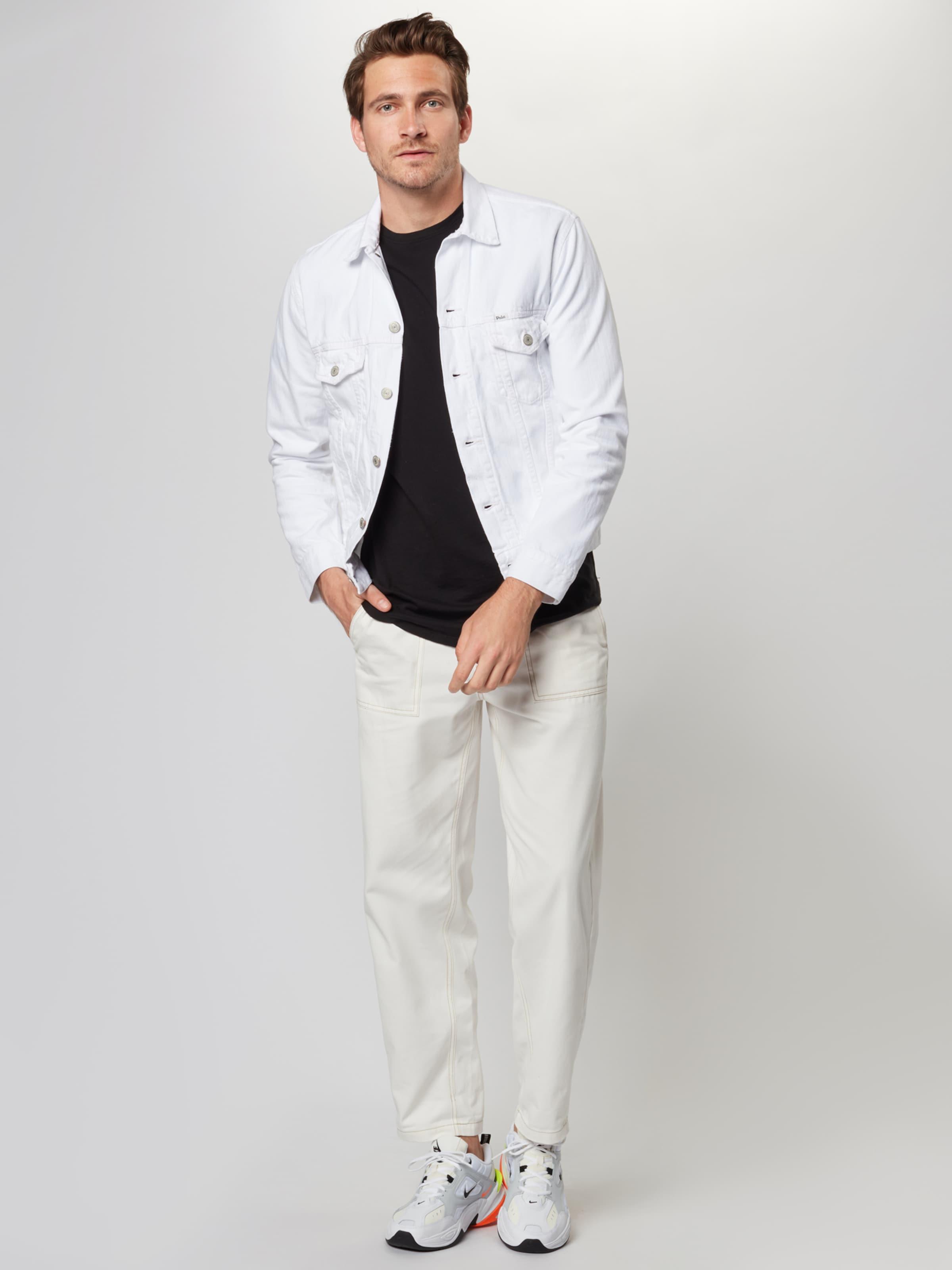 Mi saison Veste 'rl Lauren En Ralph Blanc Polo Trucker' 7gfYyb6