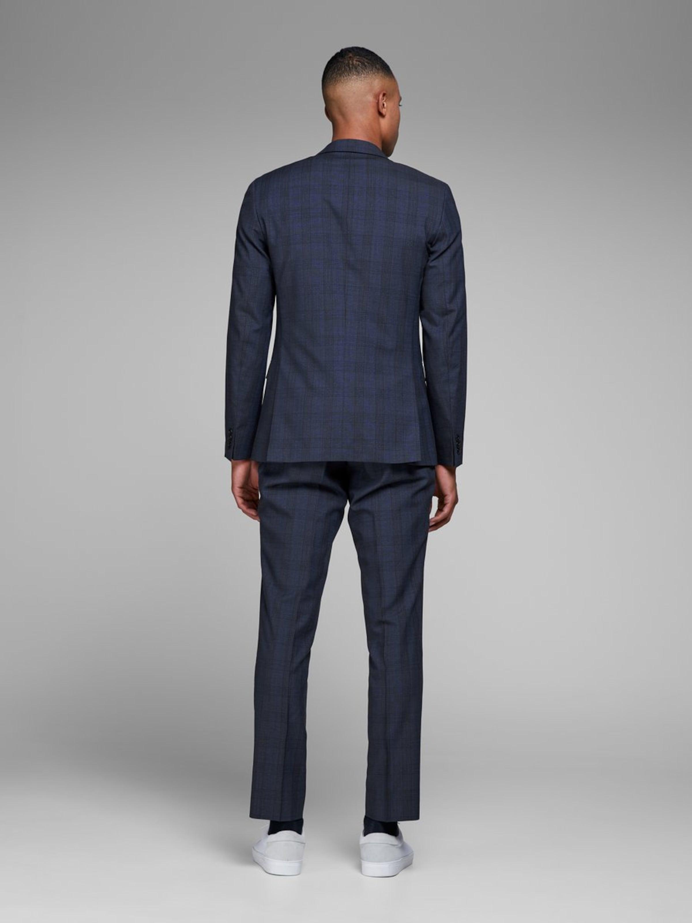 Costume Jackamp; De Jones Bleu En CobaltNoir Veste CodBerx
