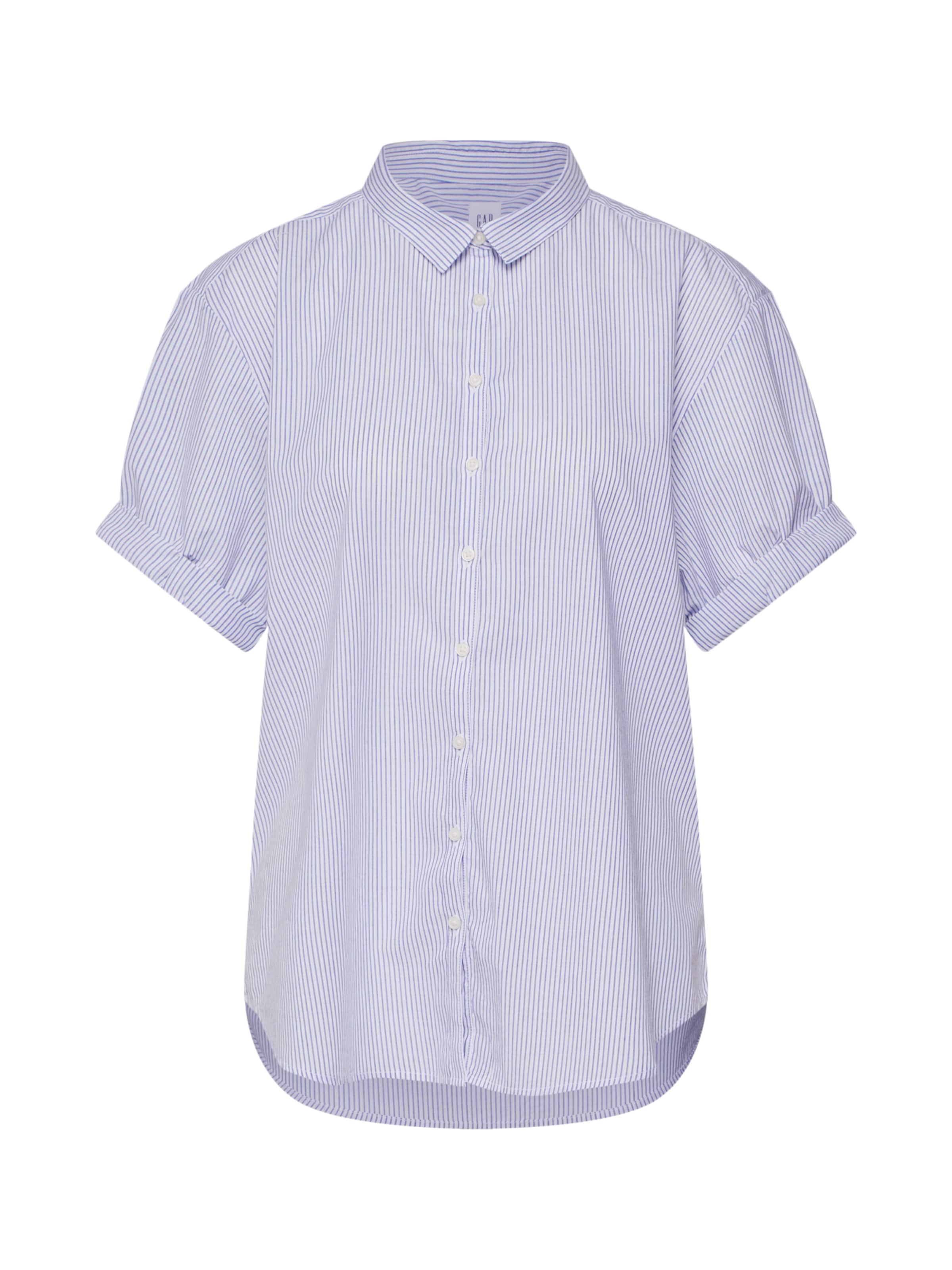 En Gap Shirt' Cuff ClairBlanc 'ss Bleu Chemisier Roll J3uKlcFT1