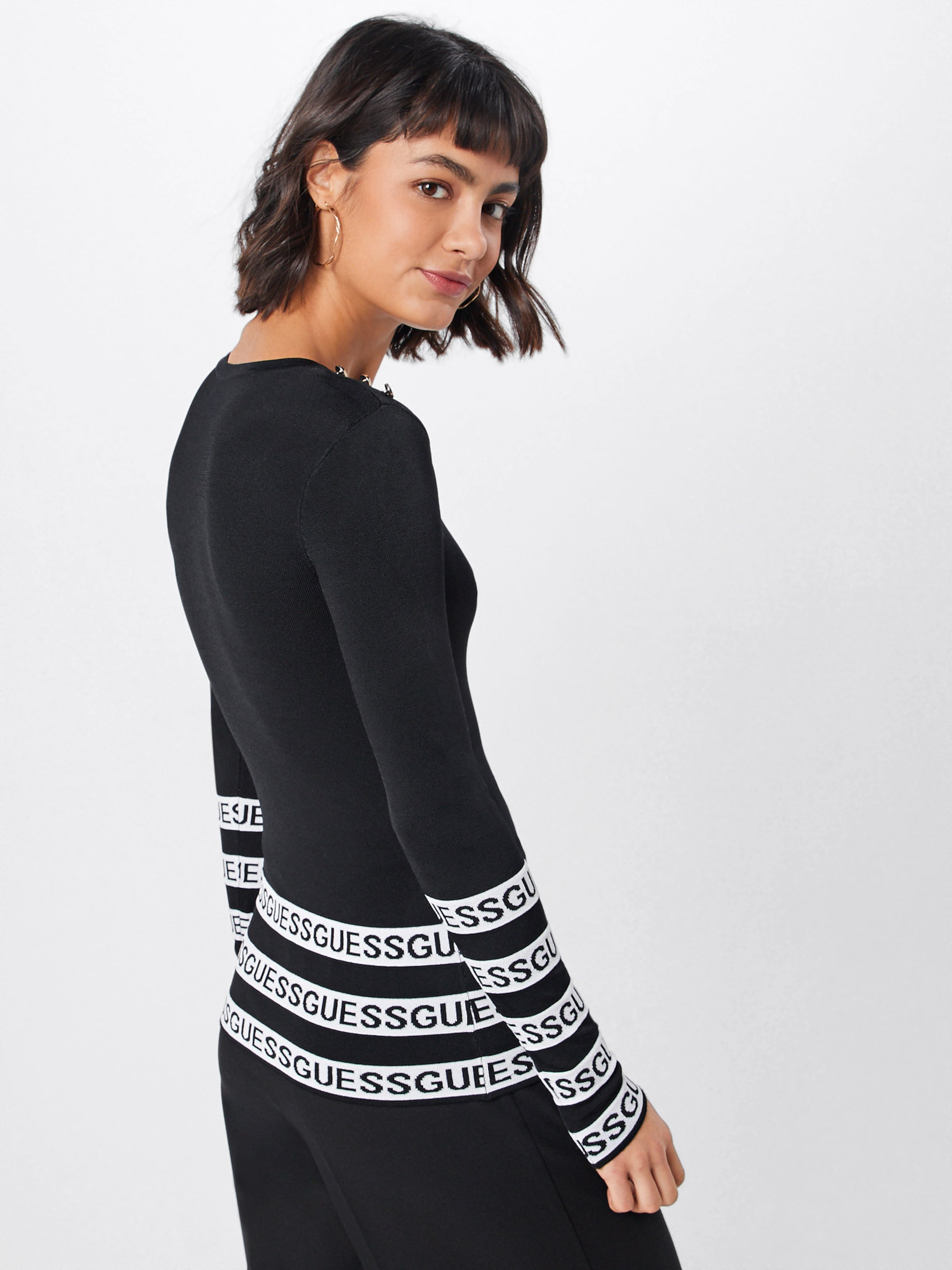 SchwarzWei In In Pullover Pullover Guess Guess 45LRj3A