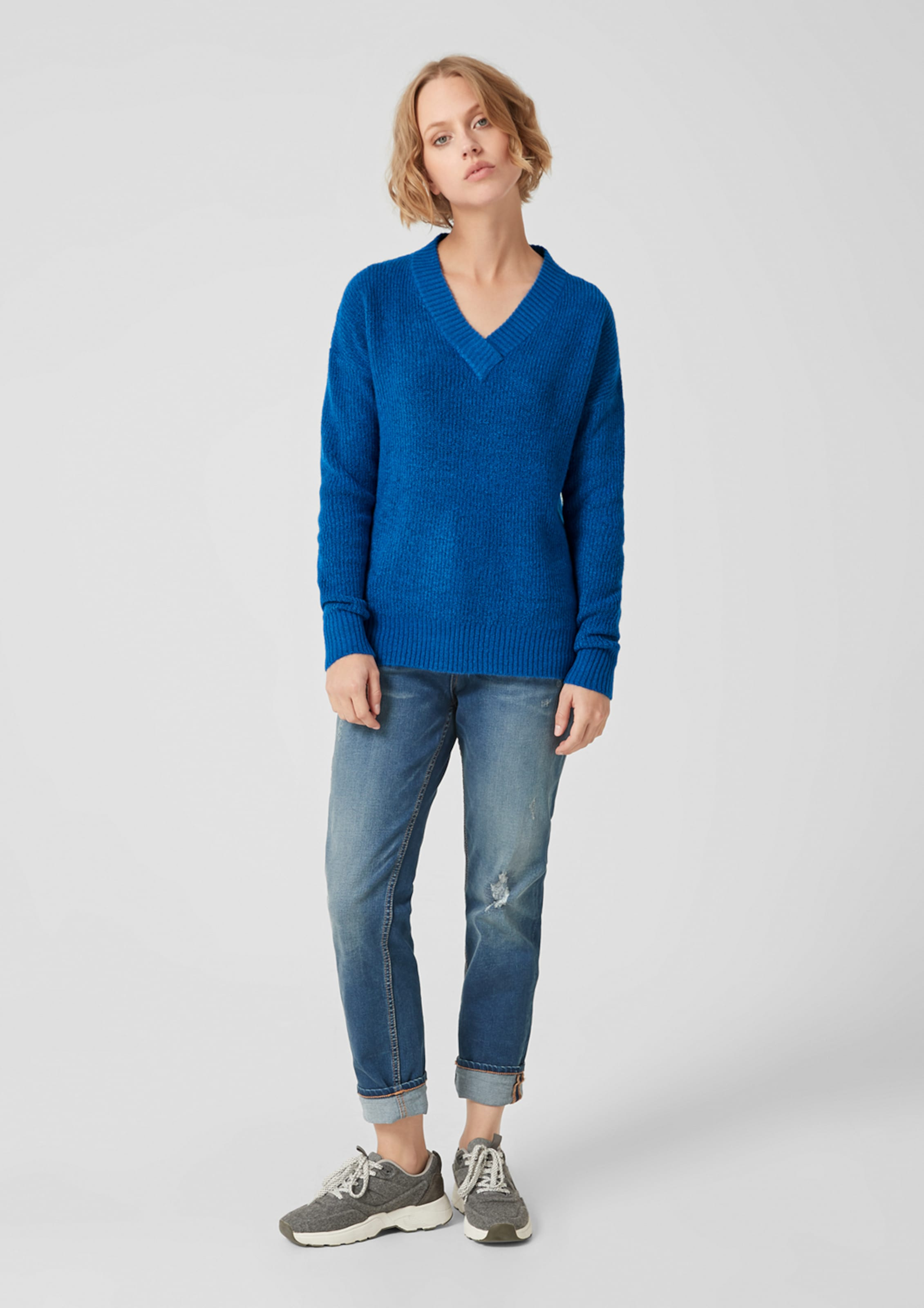 Red Label S In oliver Strickpullover Blau trhdsCQ