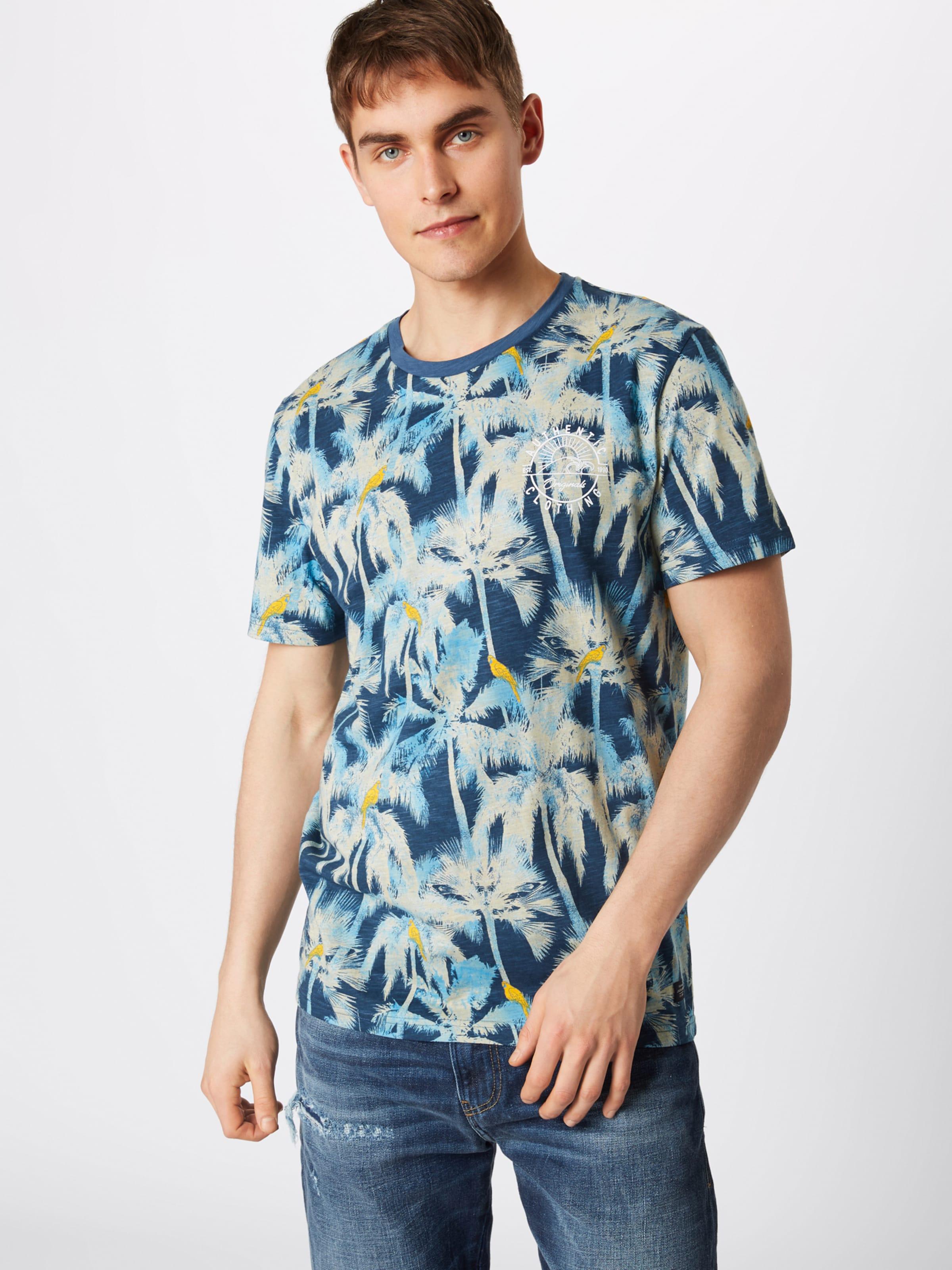 Jones 'jorcrazy Tee' En shirt Jackamp; T Blanc BleuJaune WD9H2YEI
