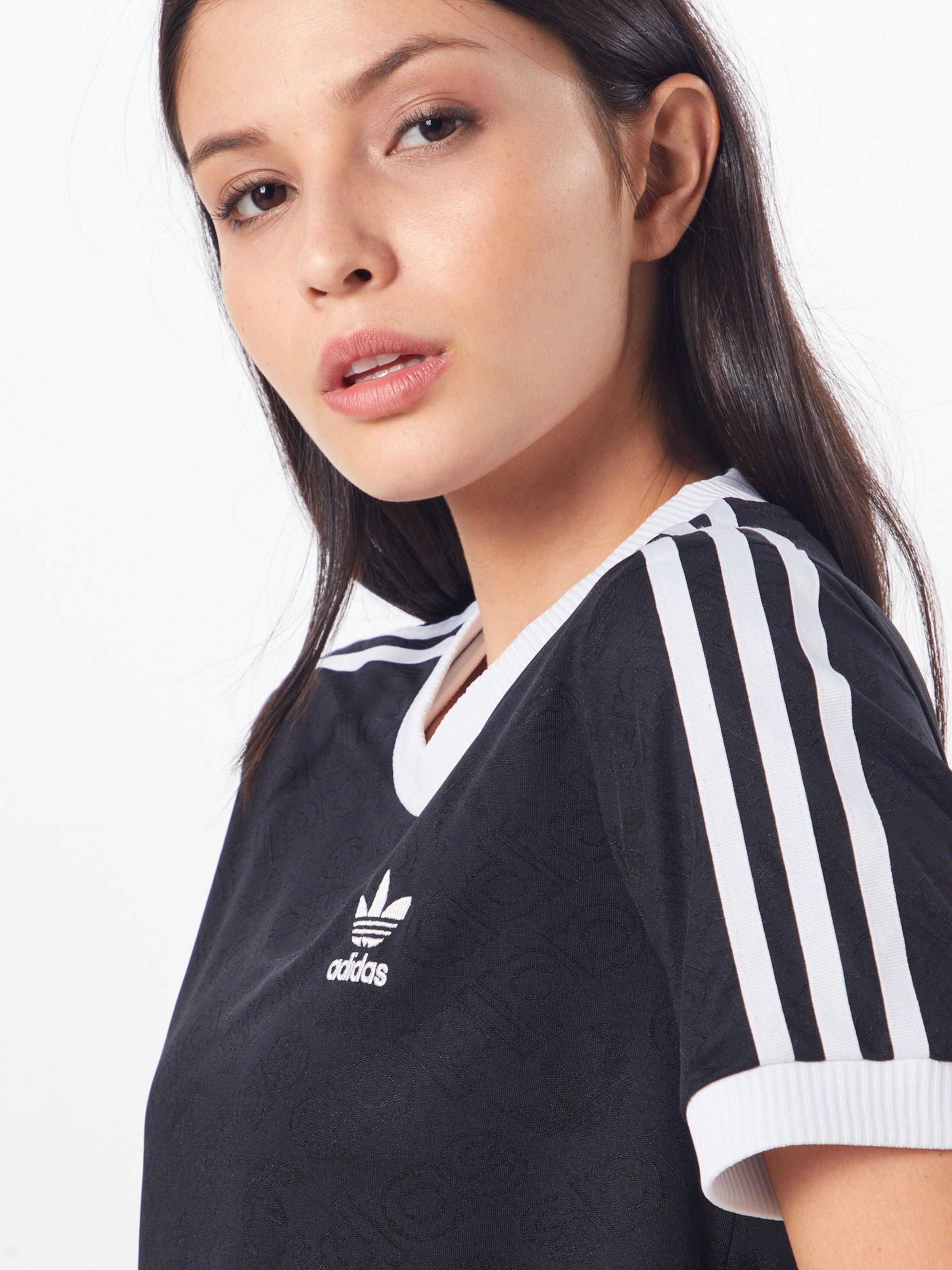 Originals shirt Adidas En NoirBlanc T '3 stripes' X08wOPkn