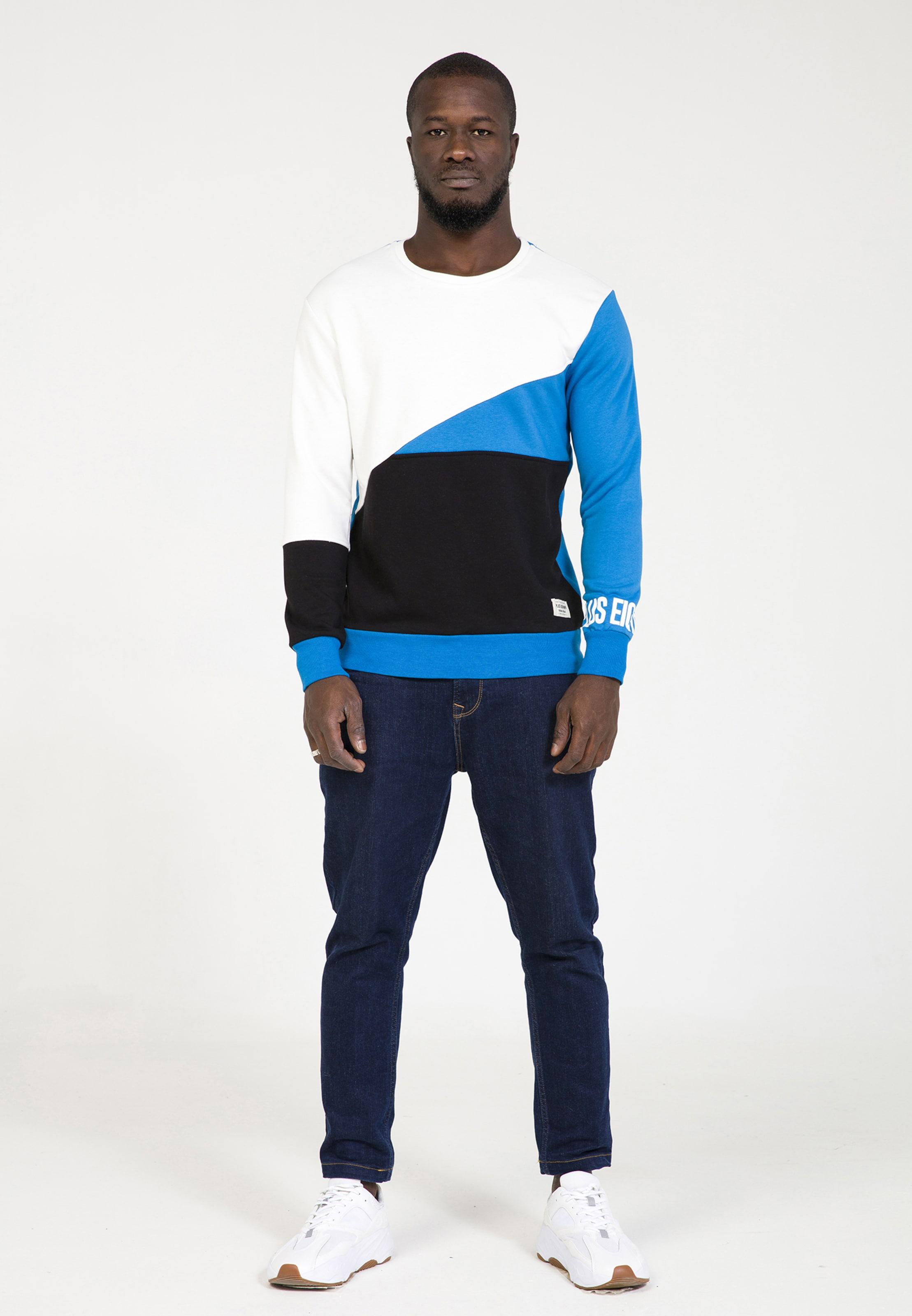 En Plus shirt Blanc Eighteen Cassé Sweat BleuNoir 8nOPN0ZkXw