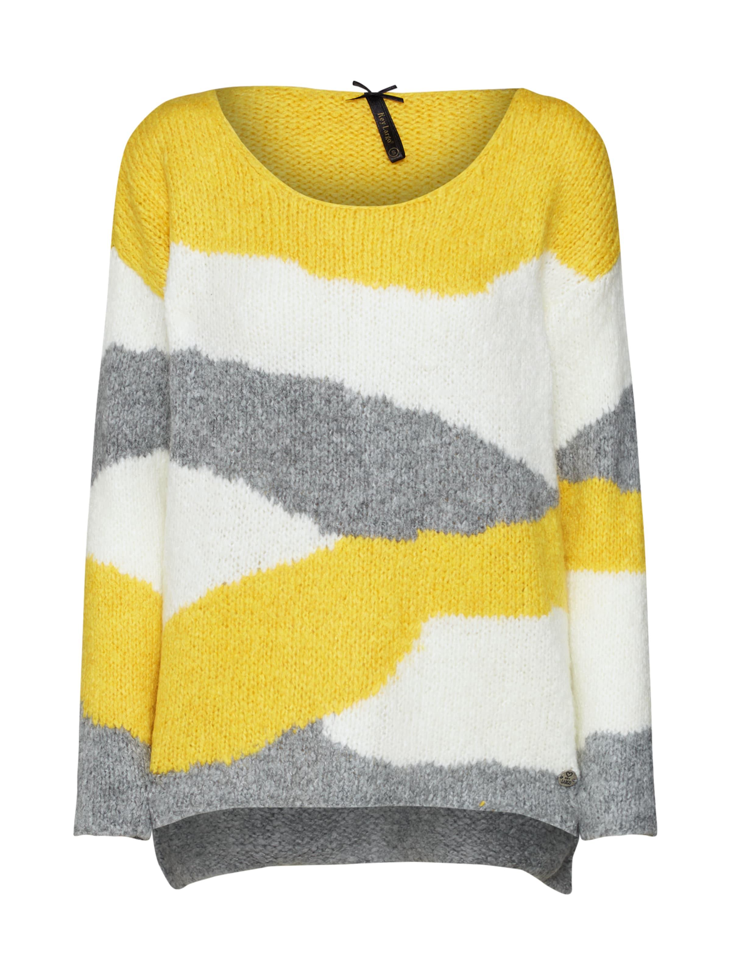 Key Weiß GelbGraumeliert Largo Pullover In SMpVUzGq
