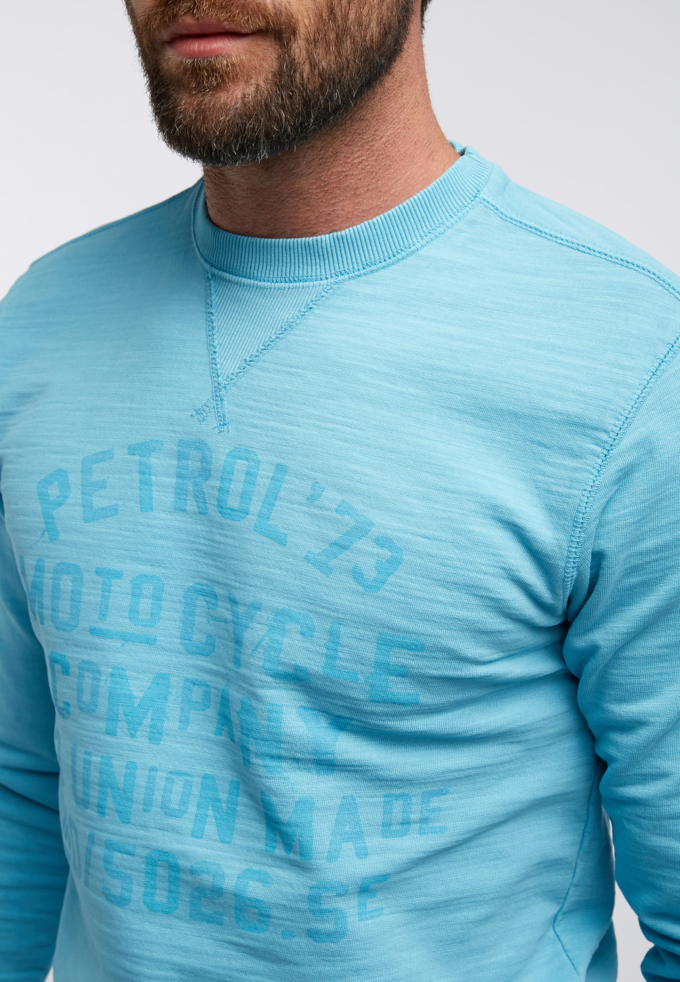 shirt Industries En Sweat Bleu Petrol Clair eWIY29EHDb