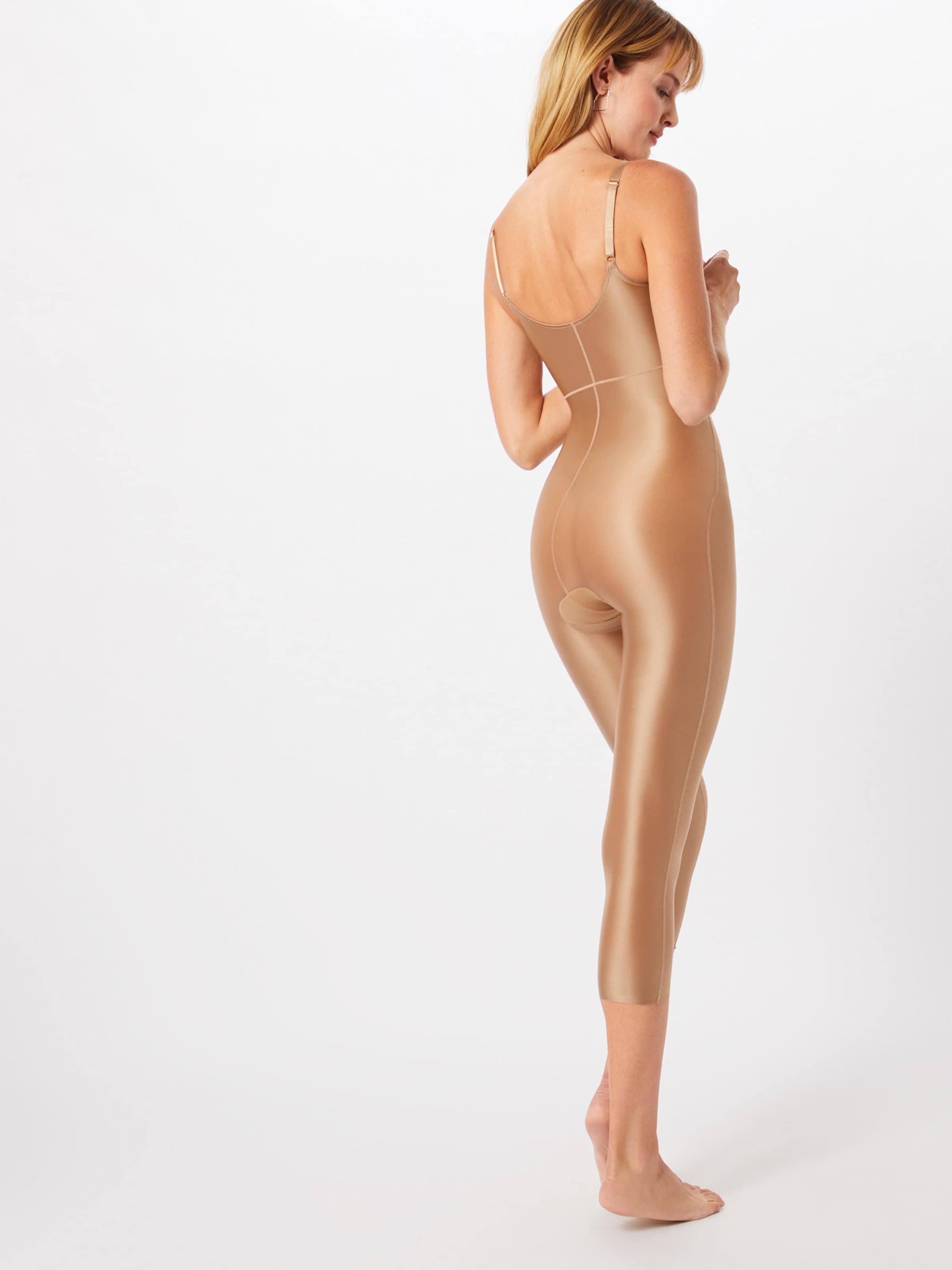 Open Catsuit' Beige Clair Body Modelant 'syf Spanx bust En BedxWrCo