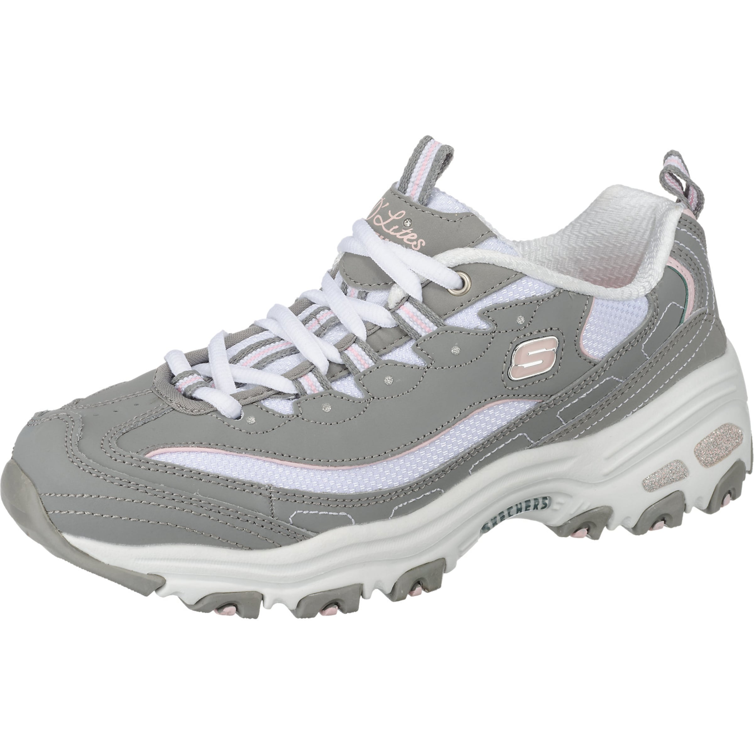 Fan' En Skechers Biggest GrisBlanc 'd'lites Baskets Basses 34jLqR5A