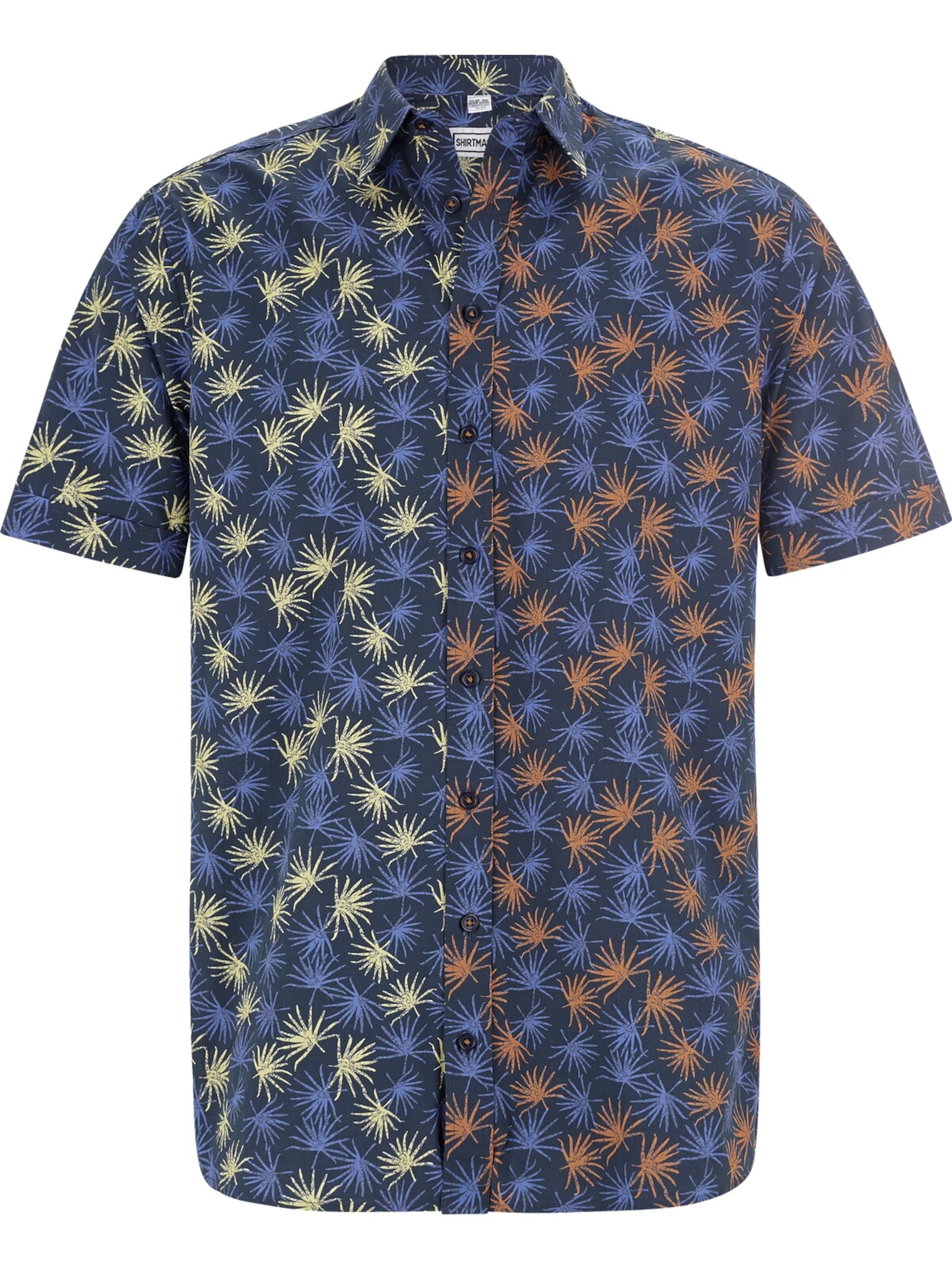 In Hemd 'escapefromwinter' Shirtmaster Hemd 'escapefromwinter' In DunkelblauMischfarben Shirtmaster DunkelblauMischfarben 76gbfy