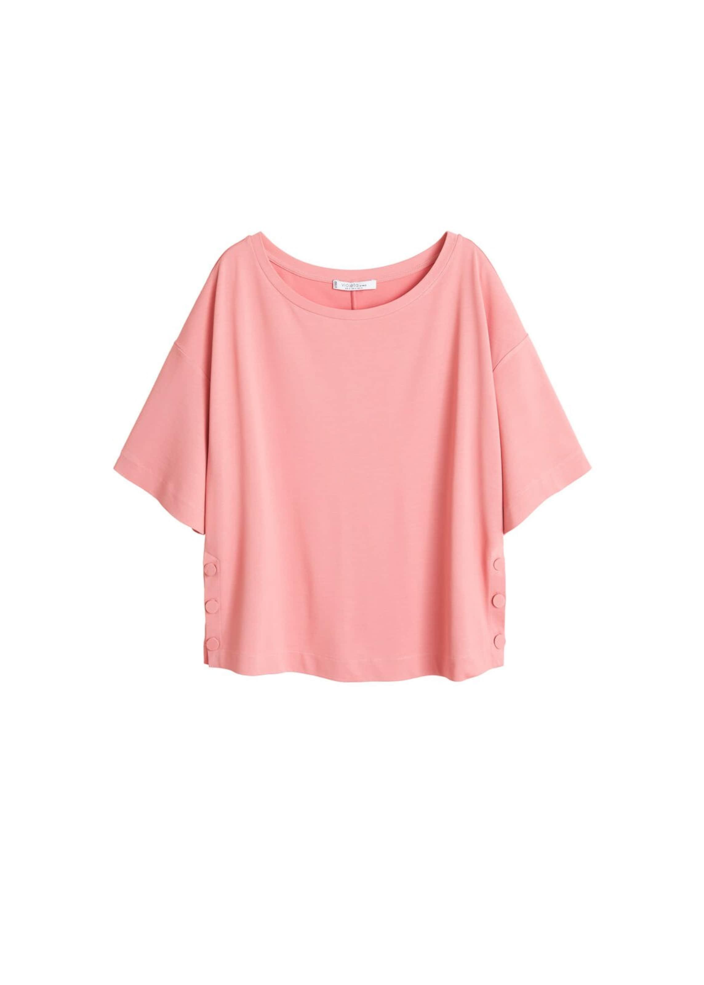 By Mango Shirt Pink Violeta In QCshBdxrt