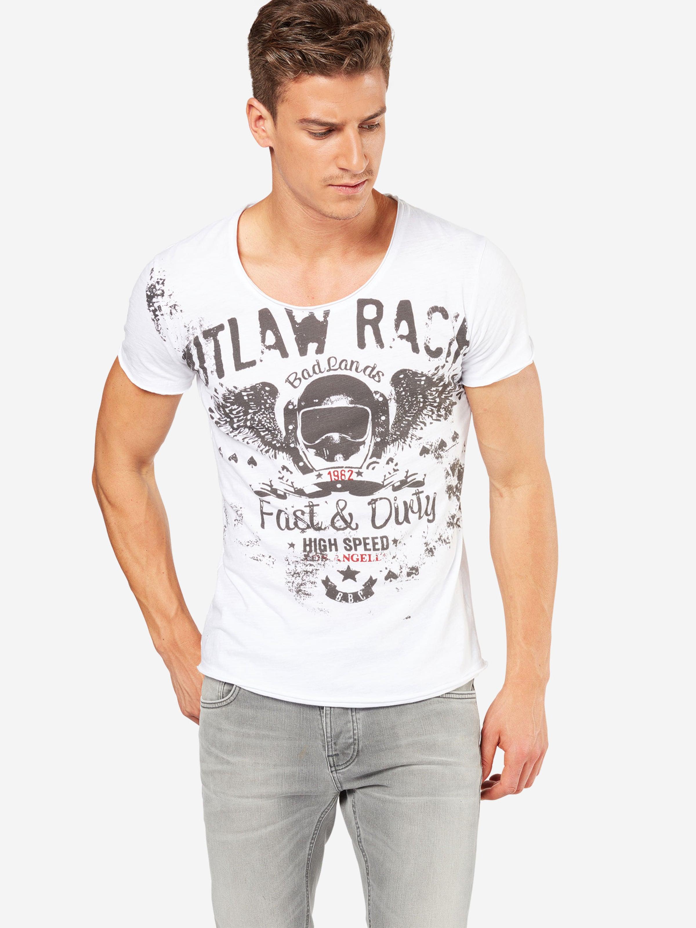 shirt T 'mt Largo AnthraciteJade Round' En Outlaws Key Fc3lJTK1