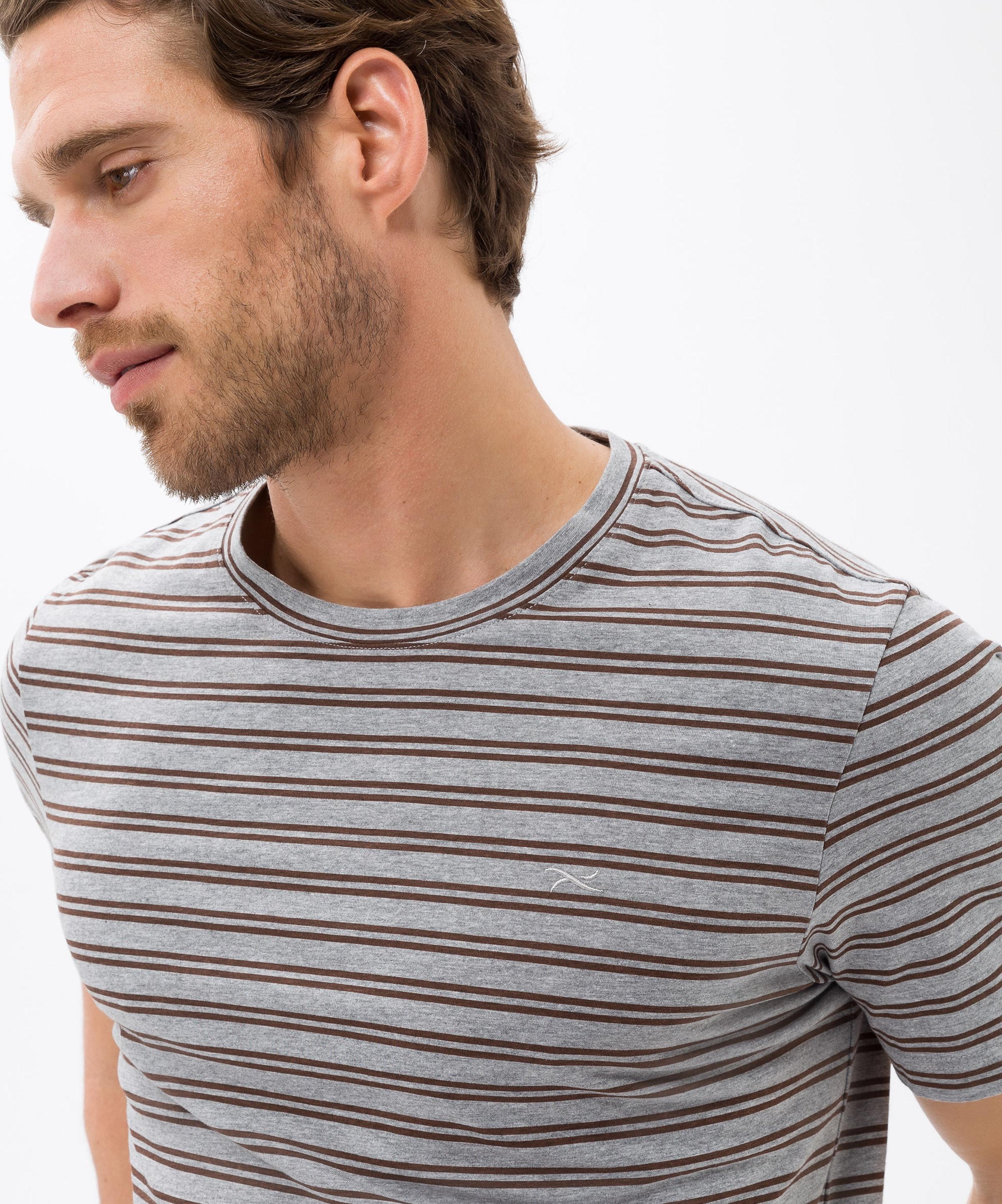 'troy' In T BraunGrau shirt Brax 7Yg6vbfy