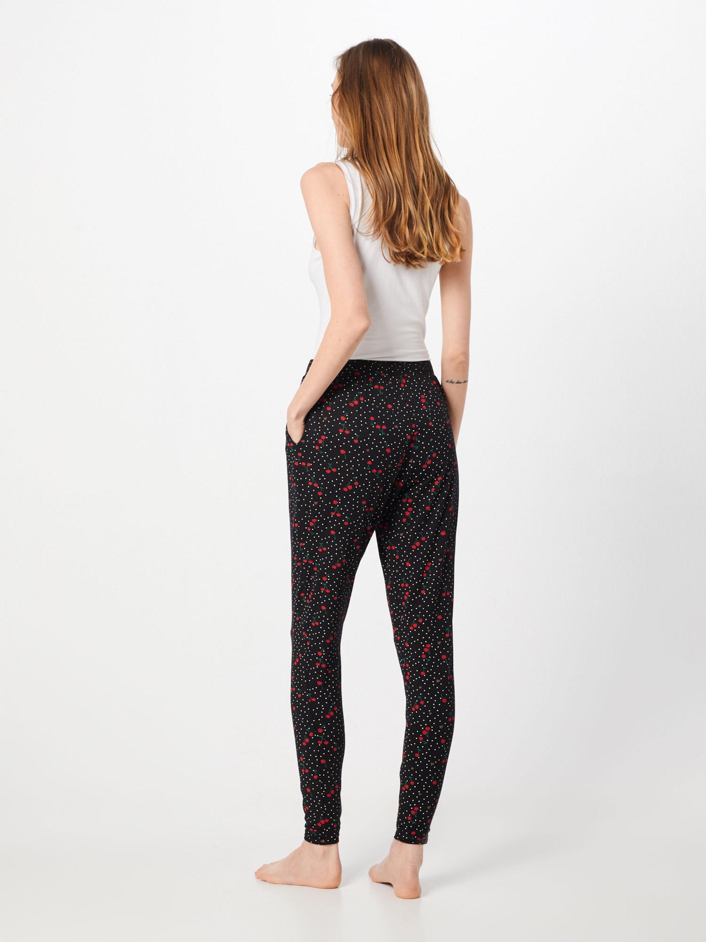 Pantalon Pyjama Noir VertRouge 'cherry' En Blanc De Hunkemöller IbfmY6gv7y