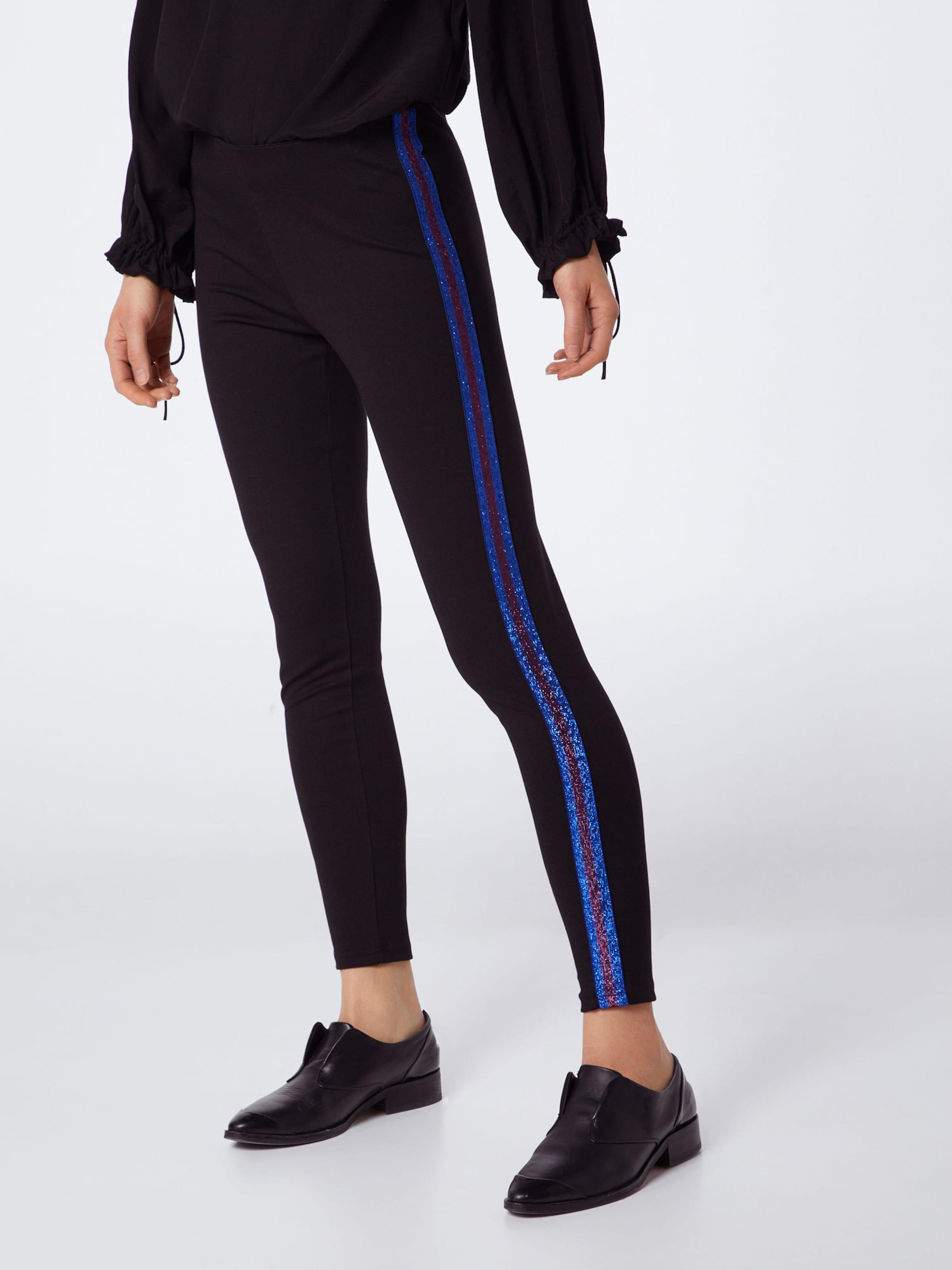 De Y 'yascamille a Lurex' En Pantalon Noir BleuLie s Vin ED92WIH