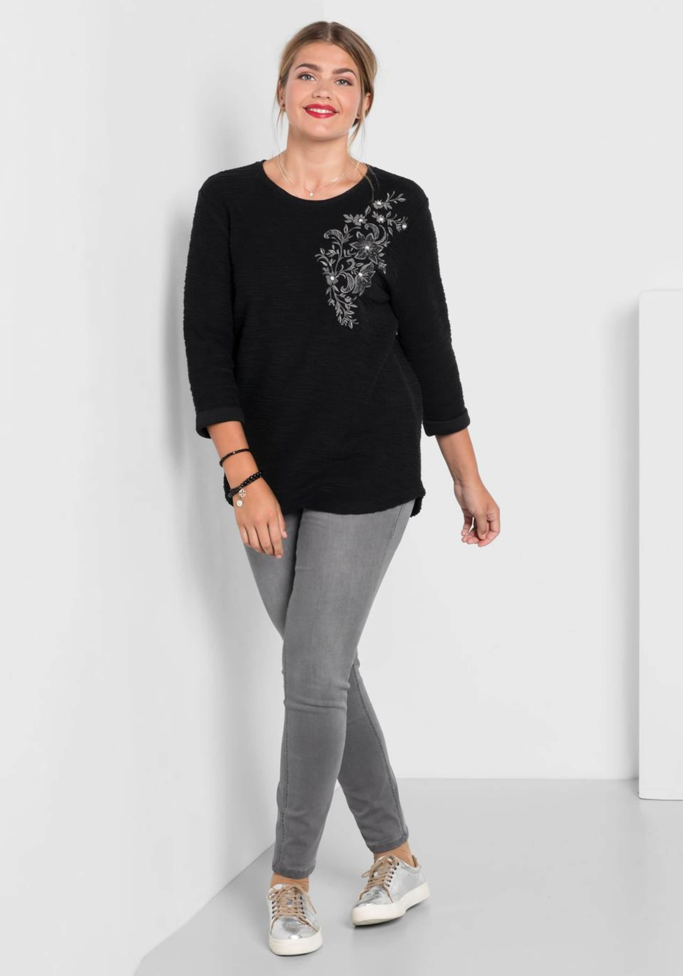 Sheego Sweatshirt In Schwarz Sheego Sweatshirt dxCeBo