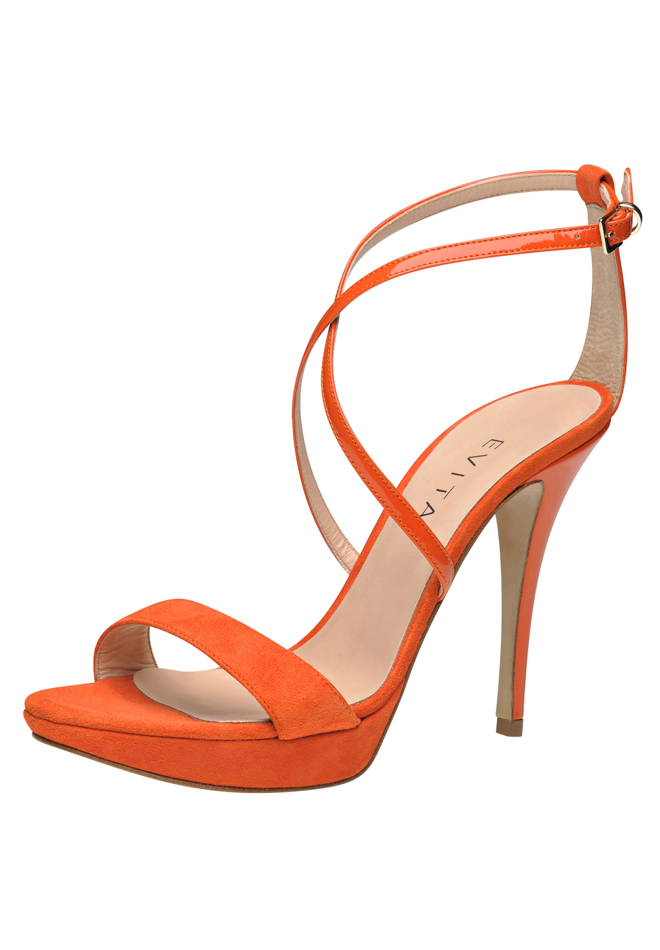 Evita Fluo Orange Arrière En Escarpins Bride À yfYv7gI6b