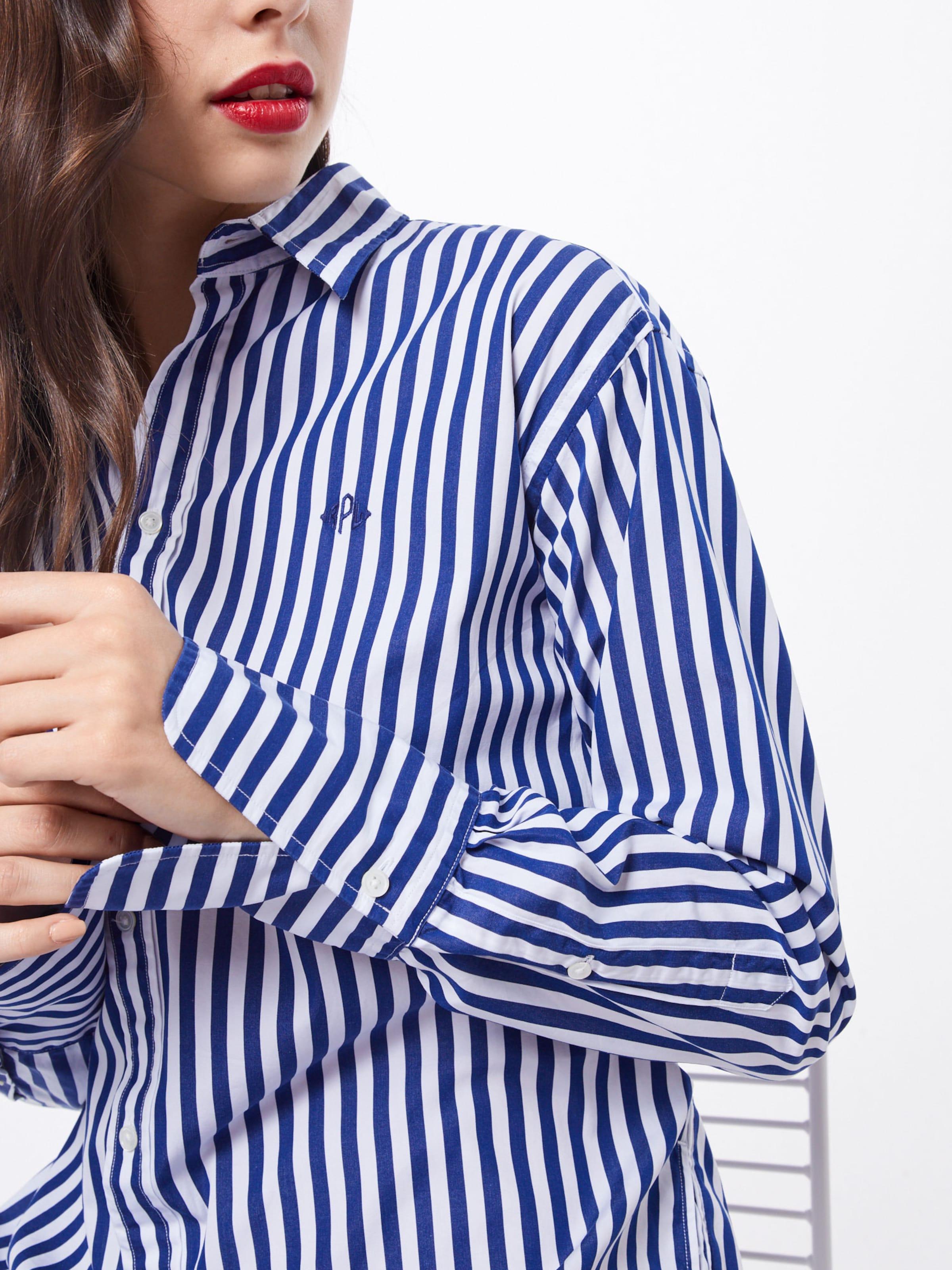 Ralph chemise Lauren Robe BleuBlanc En Polo PXknwO80