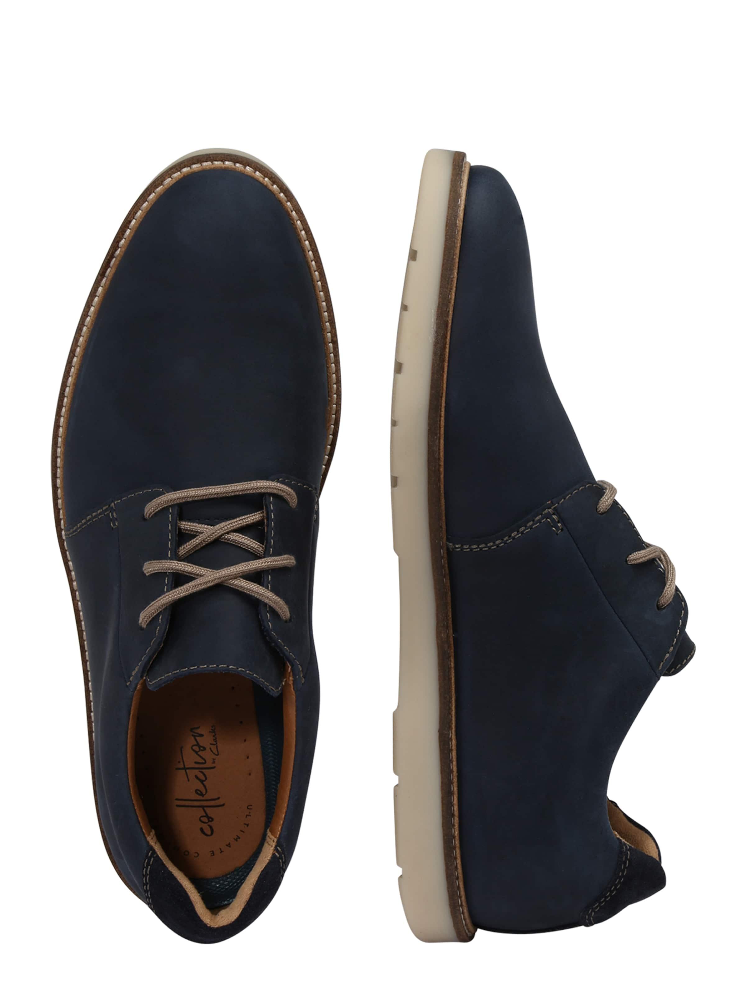 Chaussure En Clarks 'grandin Marine Lacets À Plain' Bleu mPvN08ynwO