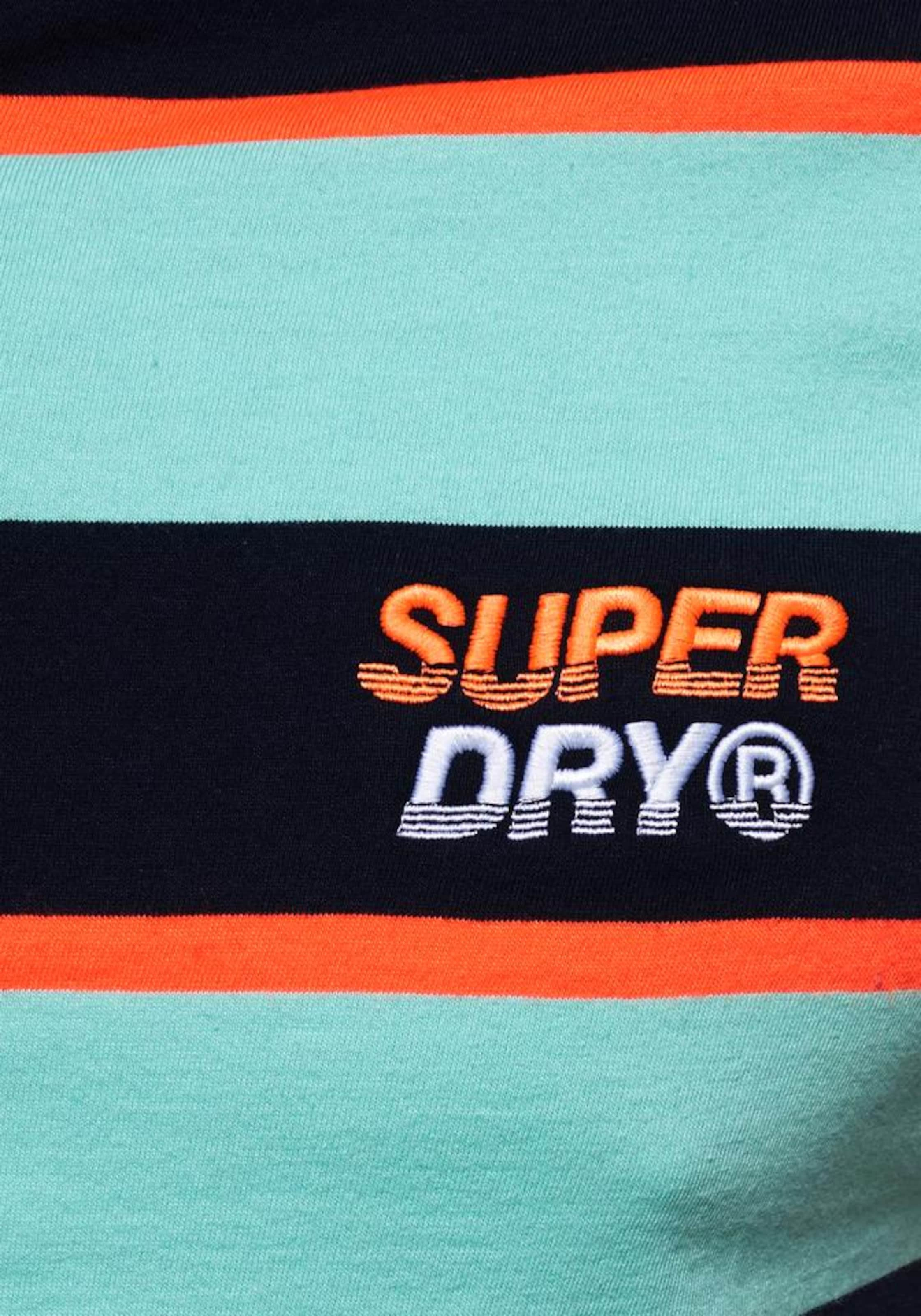 Superdry BlauMint In Orange Shirt Schwarz tdrCQsh