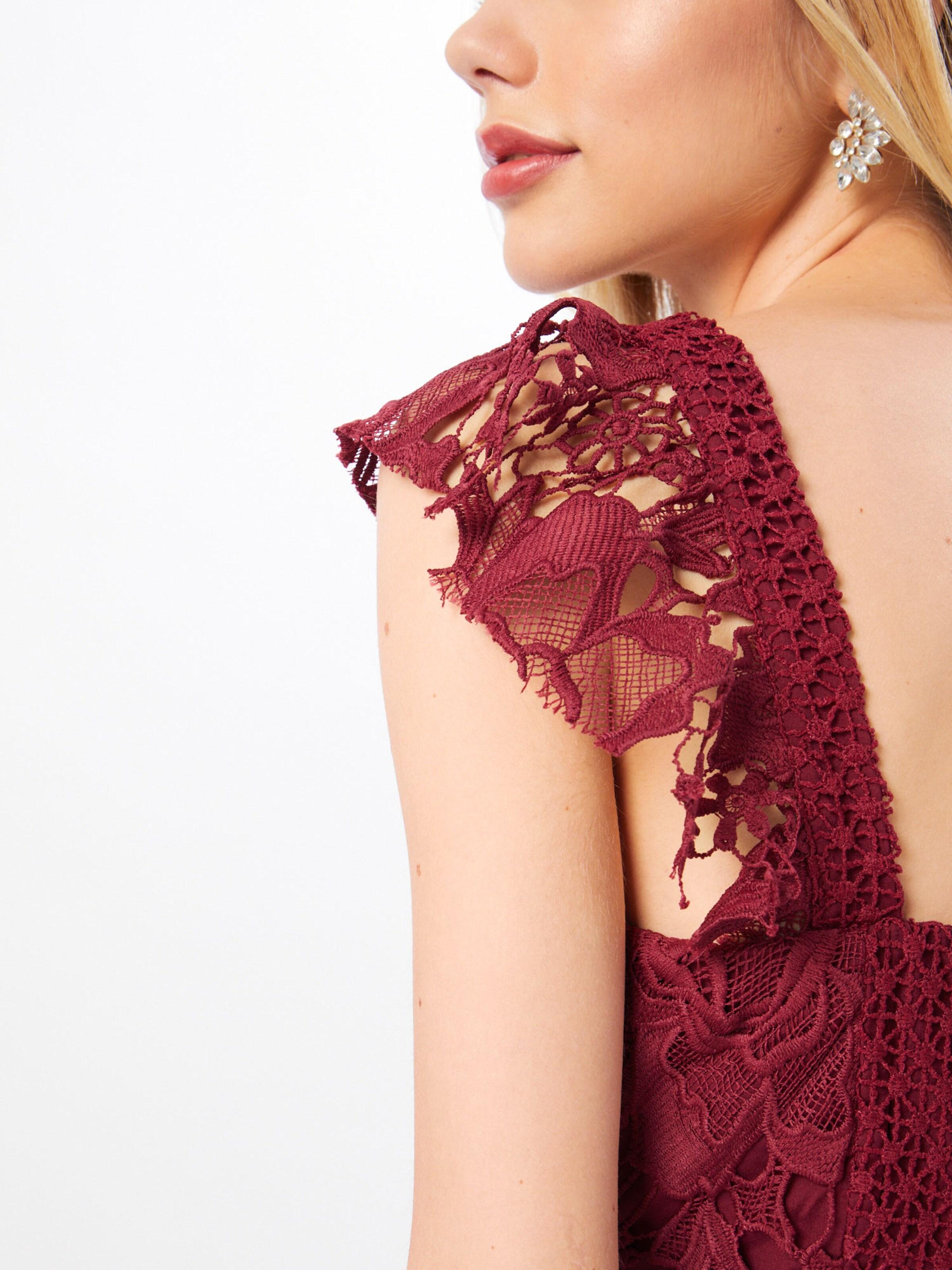 Bordeaux Soirée 'clementine' Love Triangle Robe De En v8mNn0wO