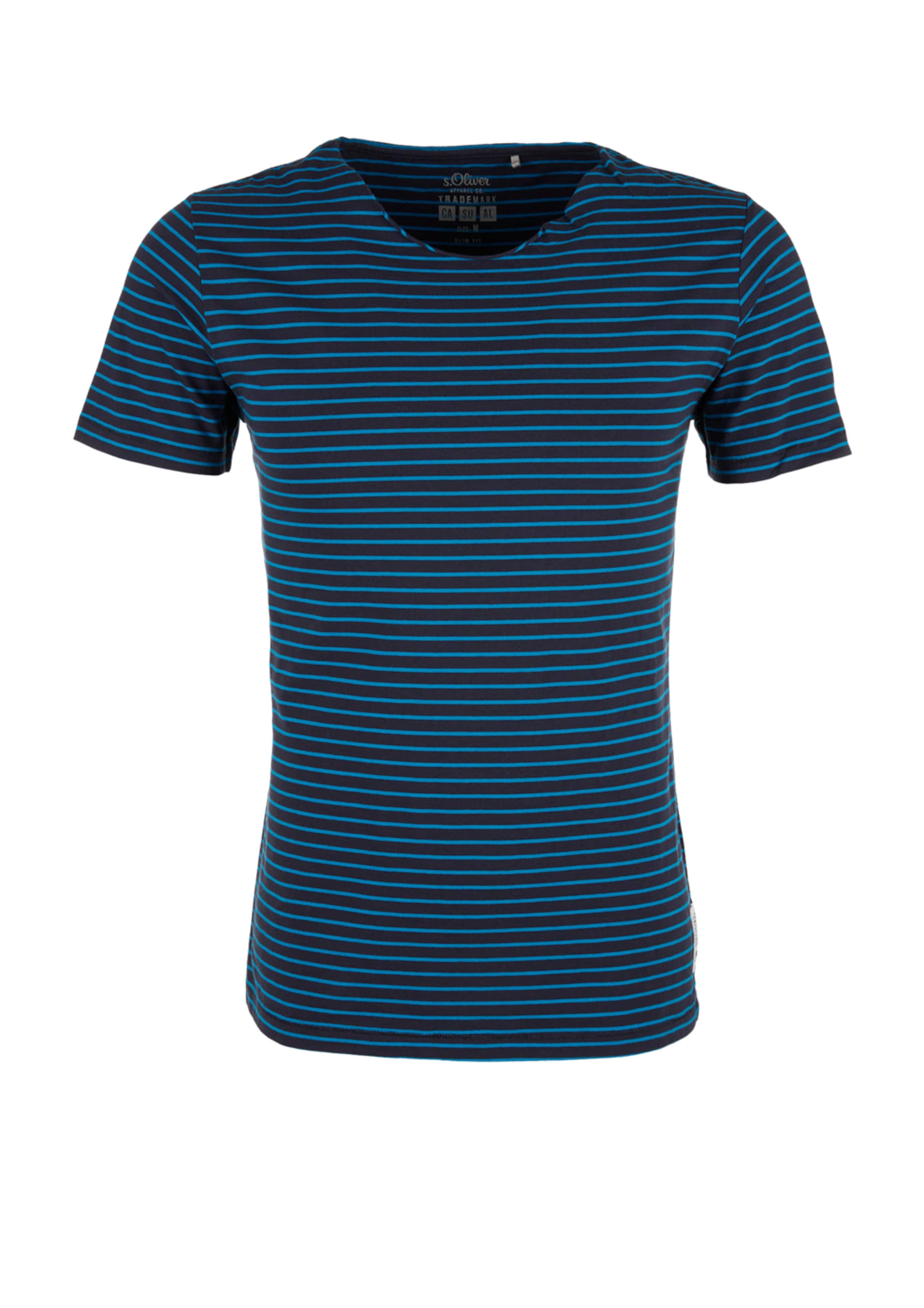 Red S Label Jerseyshirt TürkisNachtblau oliver In uTF1cKl3J