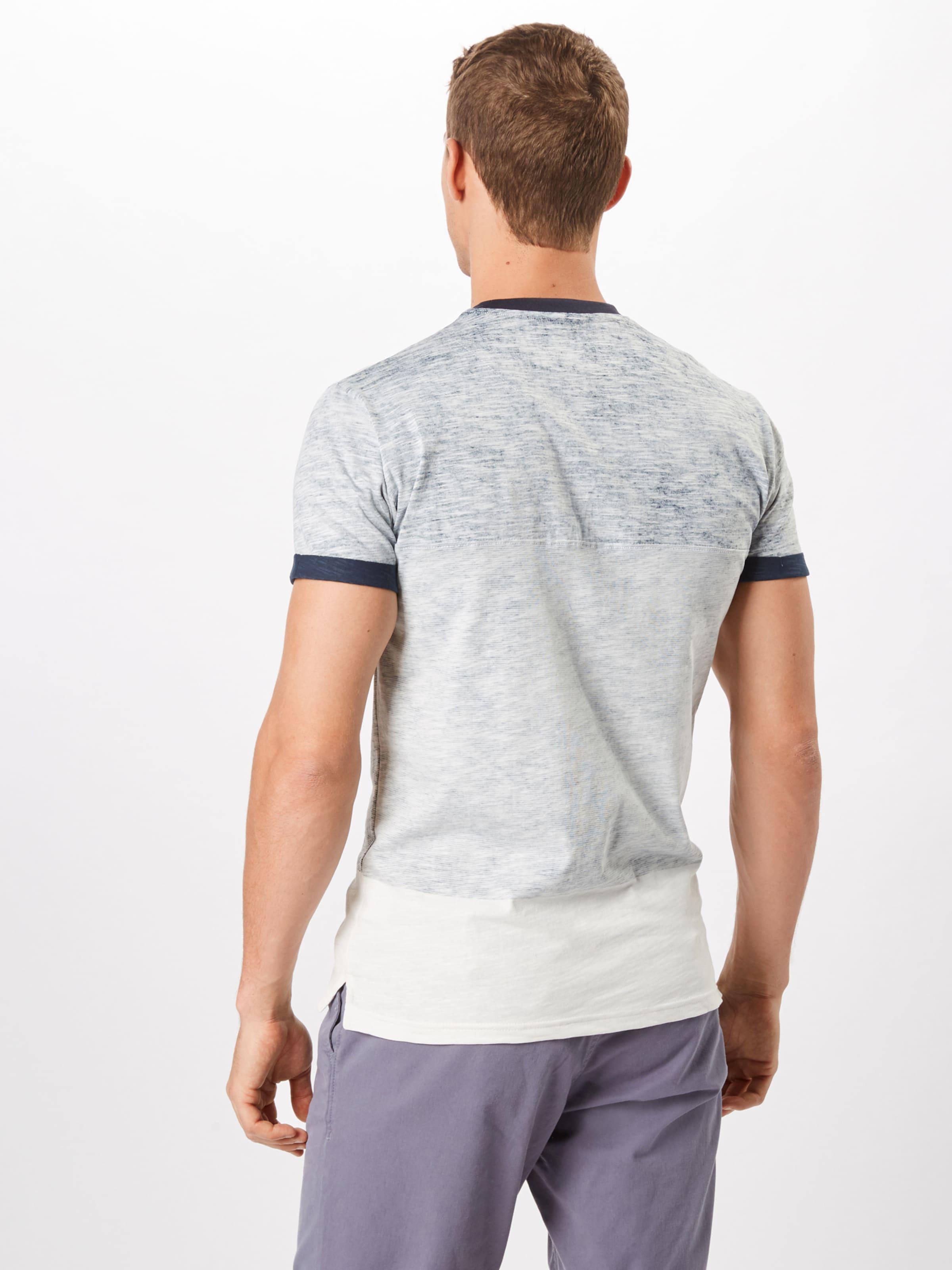 Fumé Indicode 'crombie' CrèmeBleu En Marine Gris Clair Jeans T shirt 6ybfgvY7
