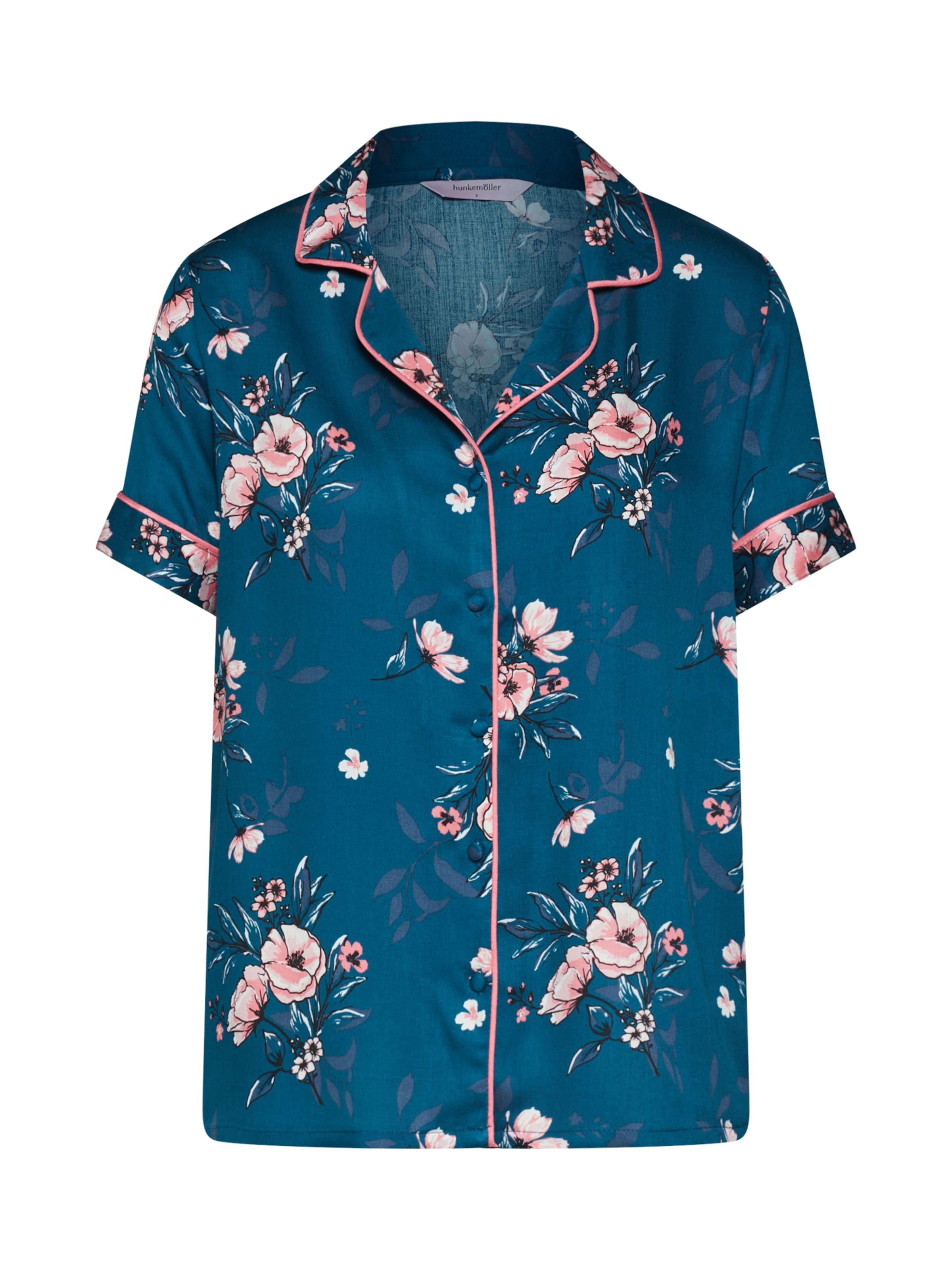 Chemise Ss De Nuit Bleu En Woven Rose' Hunkemöller 'jacket 5cALq4j3RS