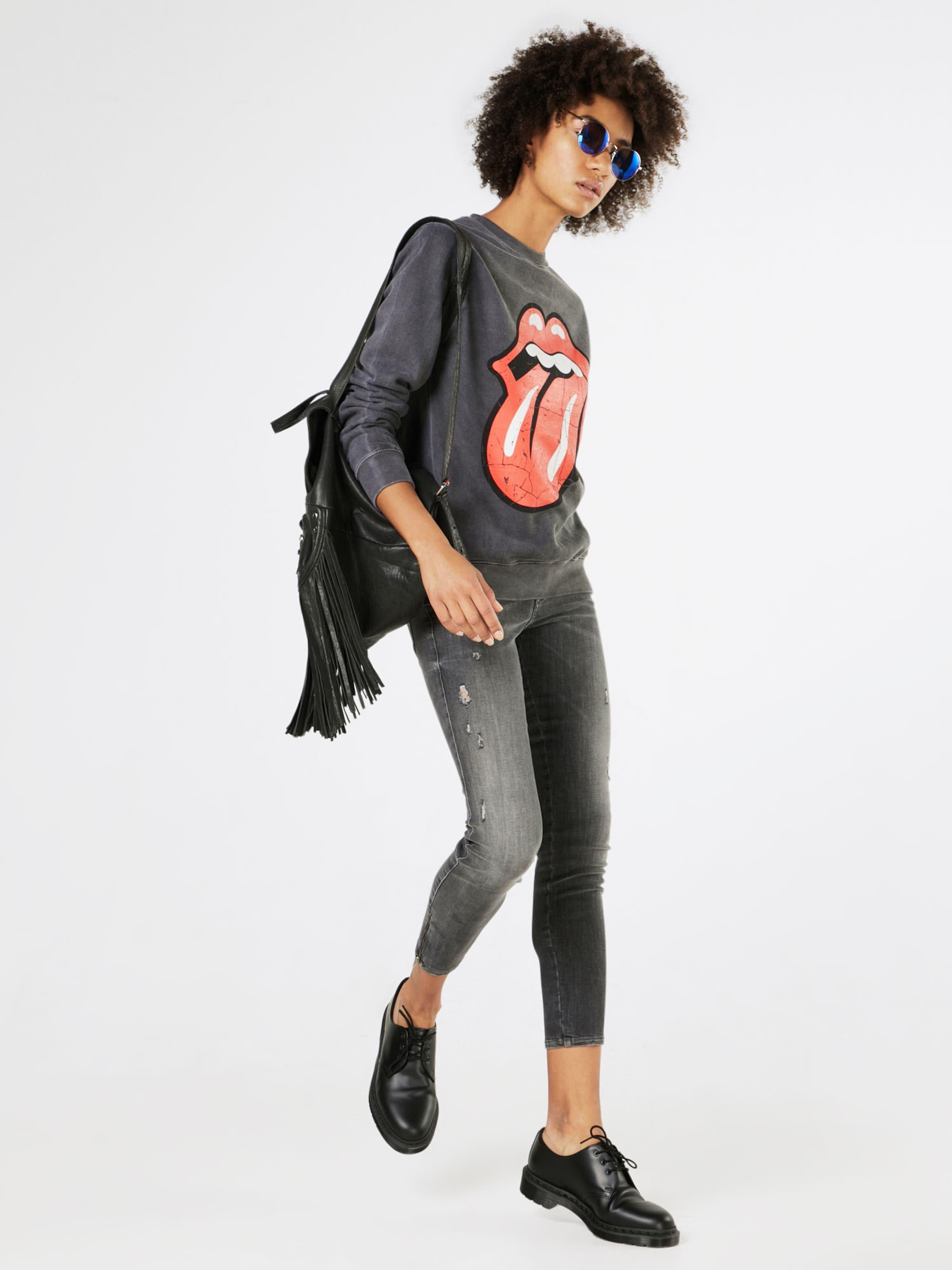 Stones' Boohoo En Gris Sweat shirt 'rolling BasalteRouge Yvyfg6b7