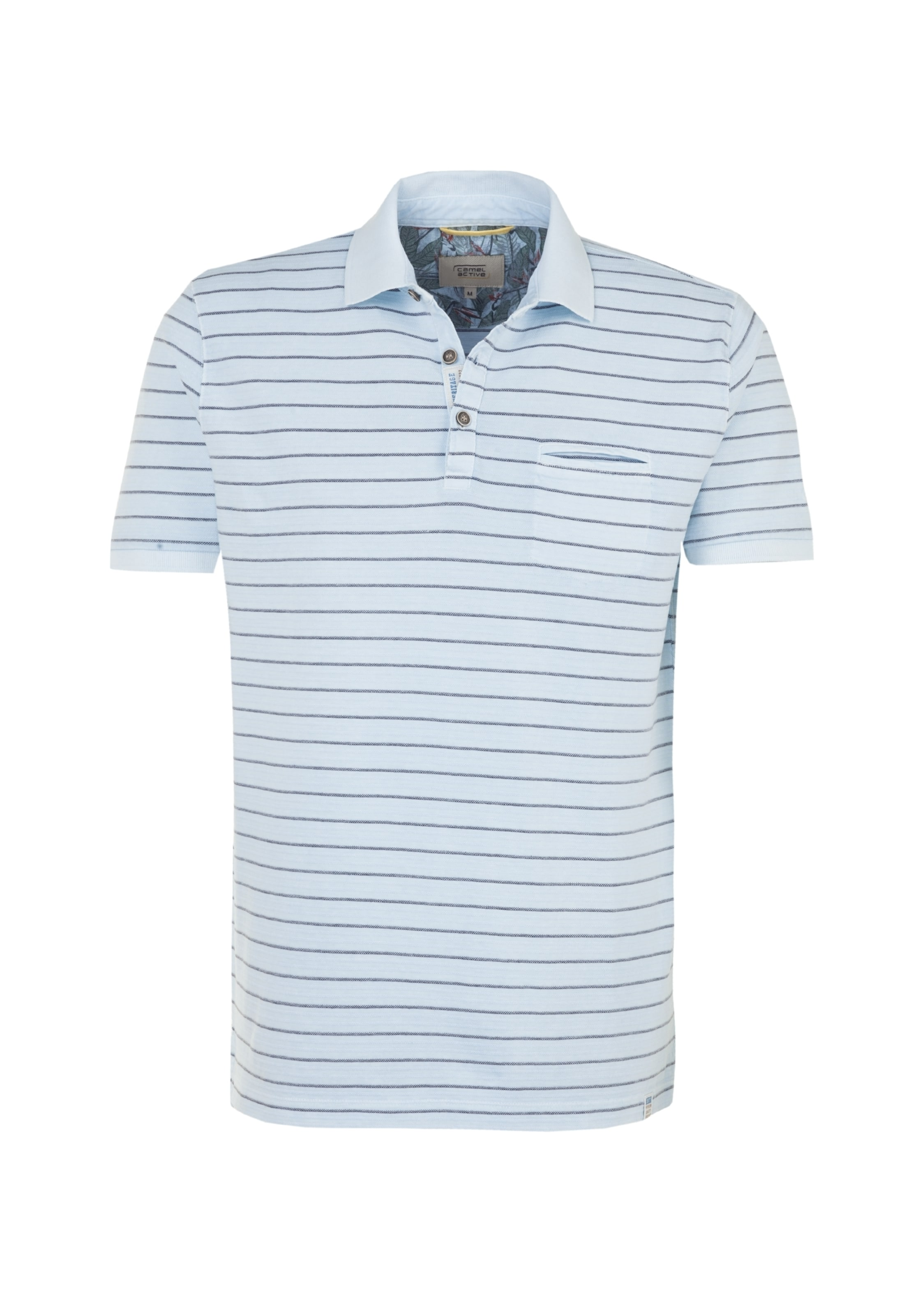 Camel Active shirt BlauHellblau In Polo CrdxBeoW