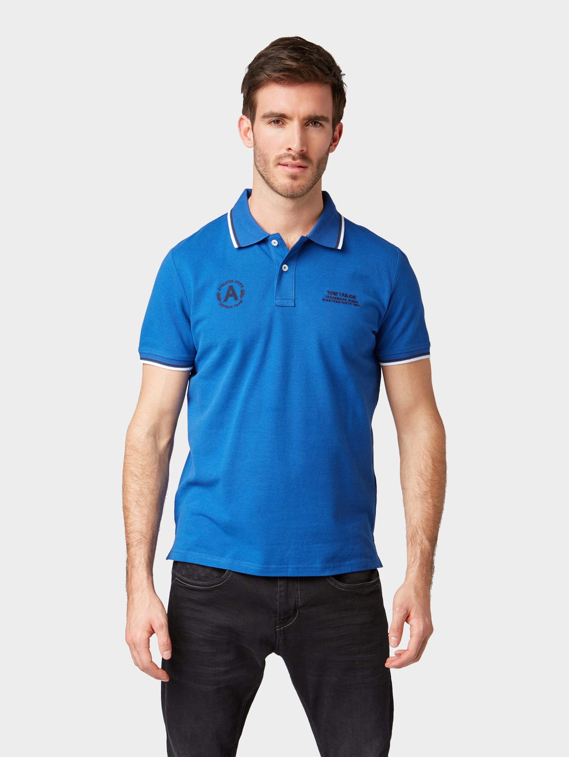 In Poloshirt Tailor Tom Tailor Himmelblau Tom CxrBode