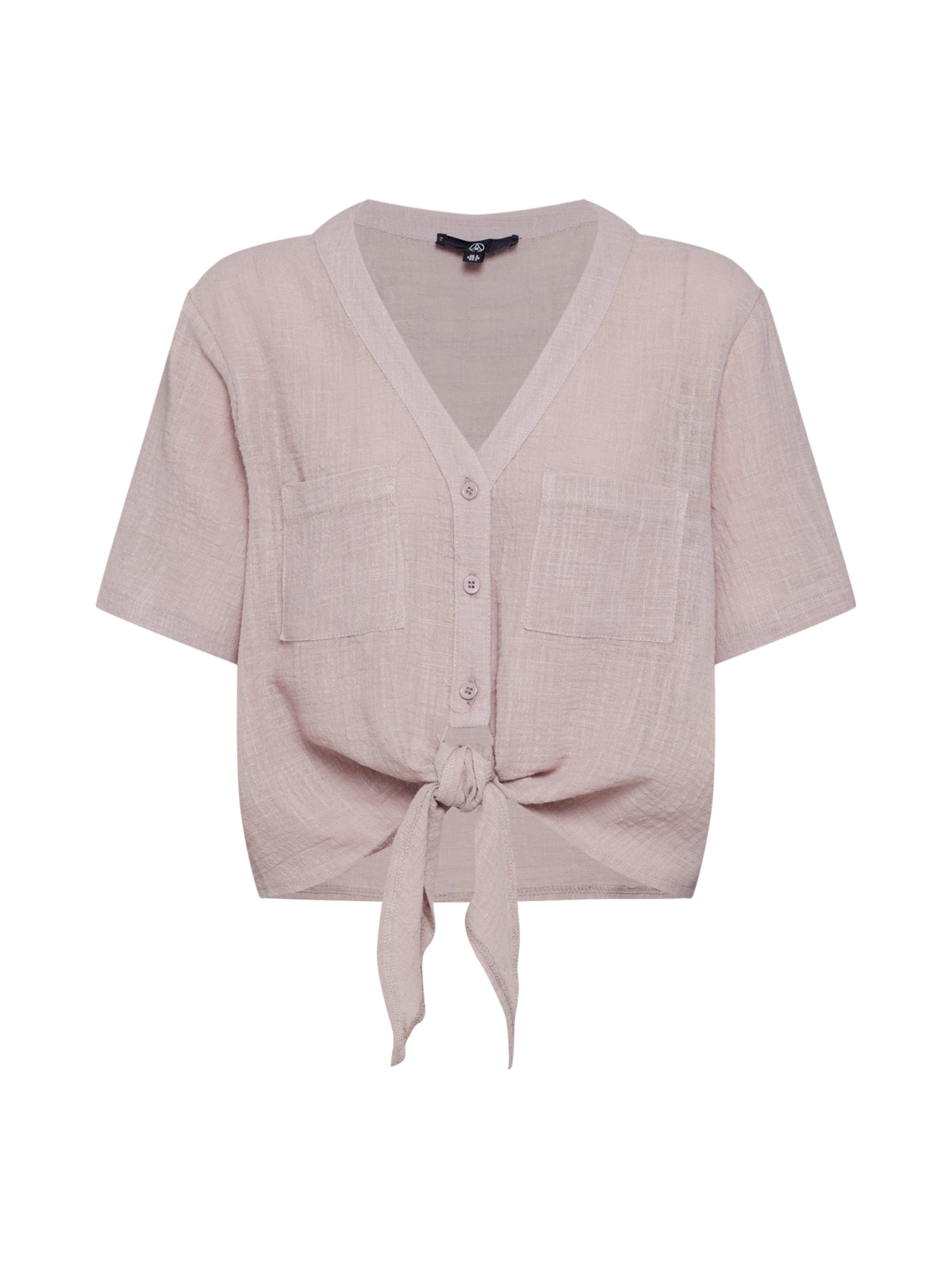 Missguided En T 'tie Crop Front Linen Shirt' shirt Taupe vnwN0O8m