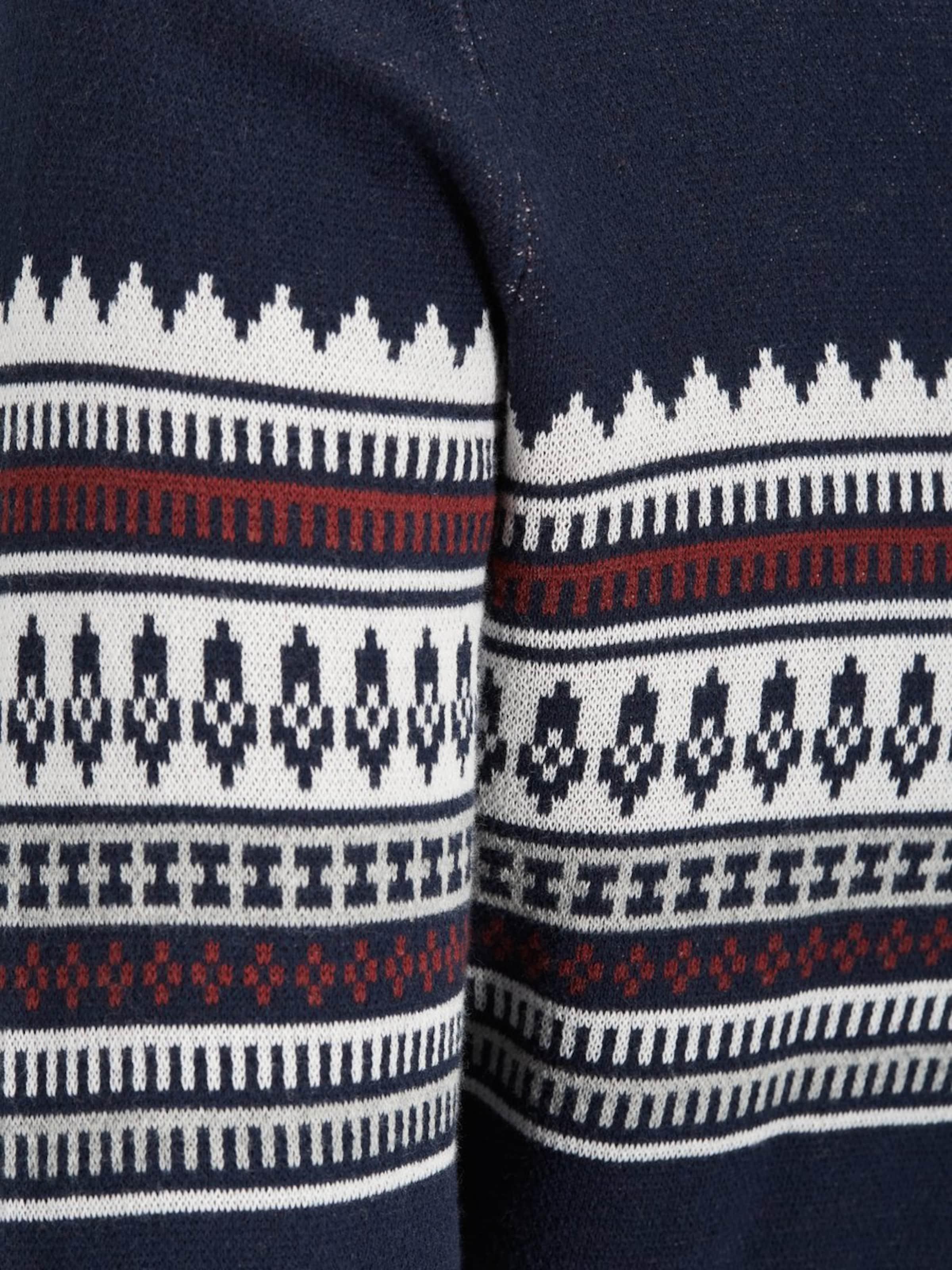 Blanc En Pull over Bleu ClairGris Foncé Produkt w8nOPX0k